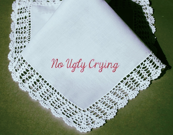 No Ugly Crying hankerchief