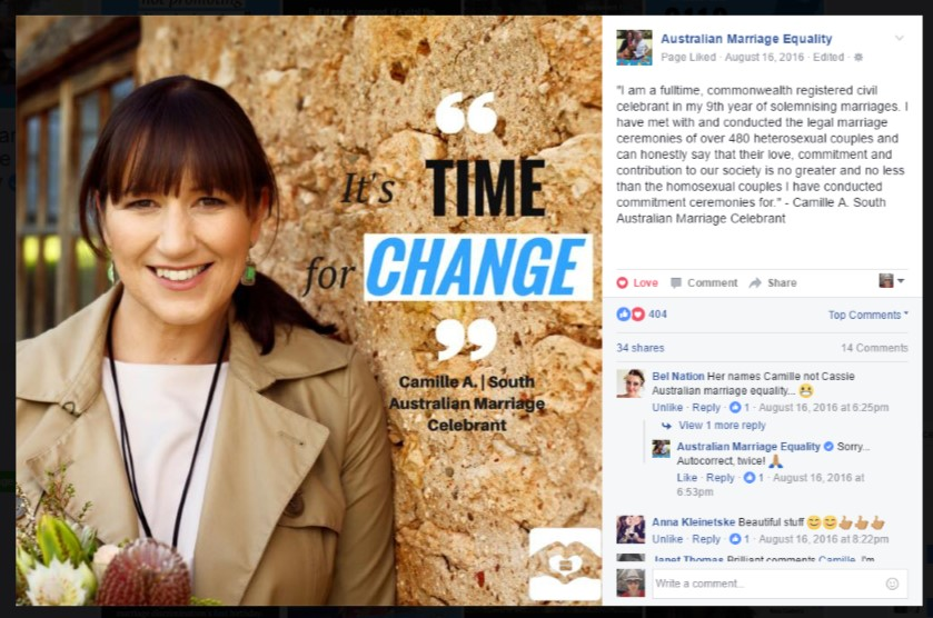 Advocate for Same Sex Marriage in Australia