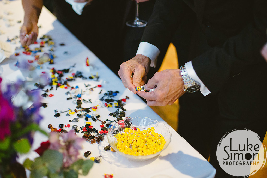 Lego escort cards for wedding