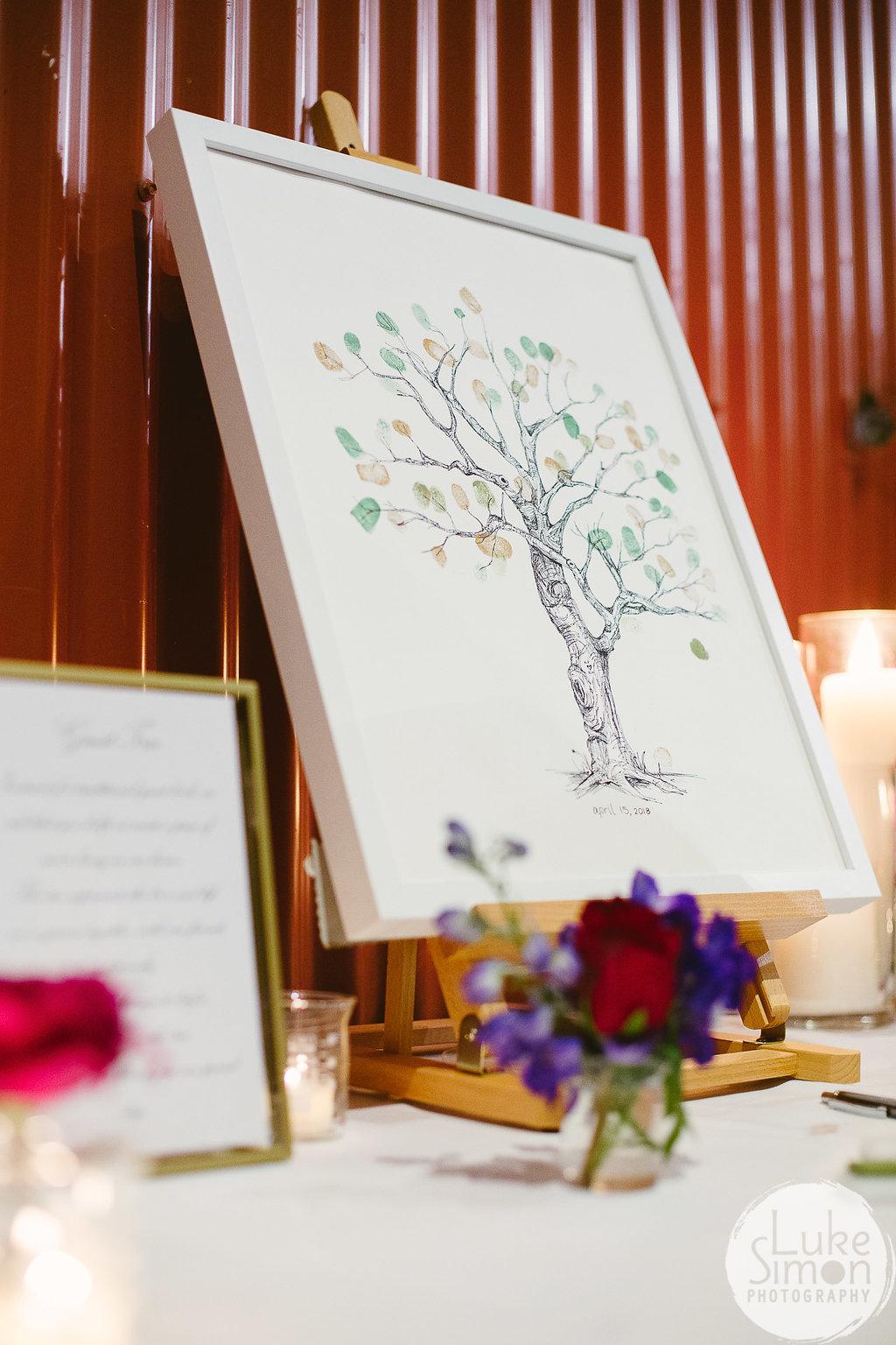fingerprints wedding guest book