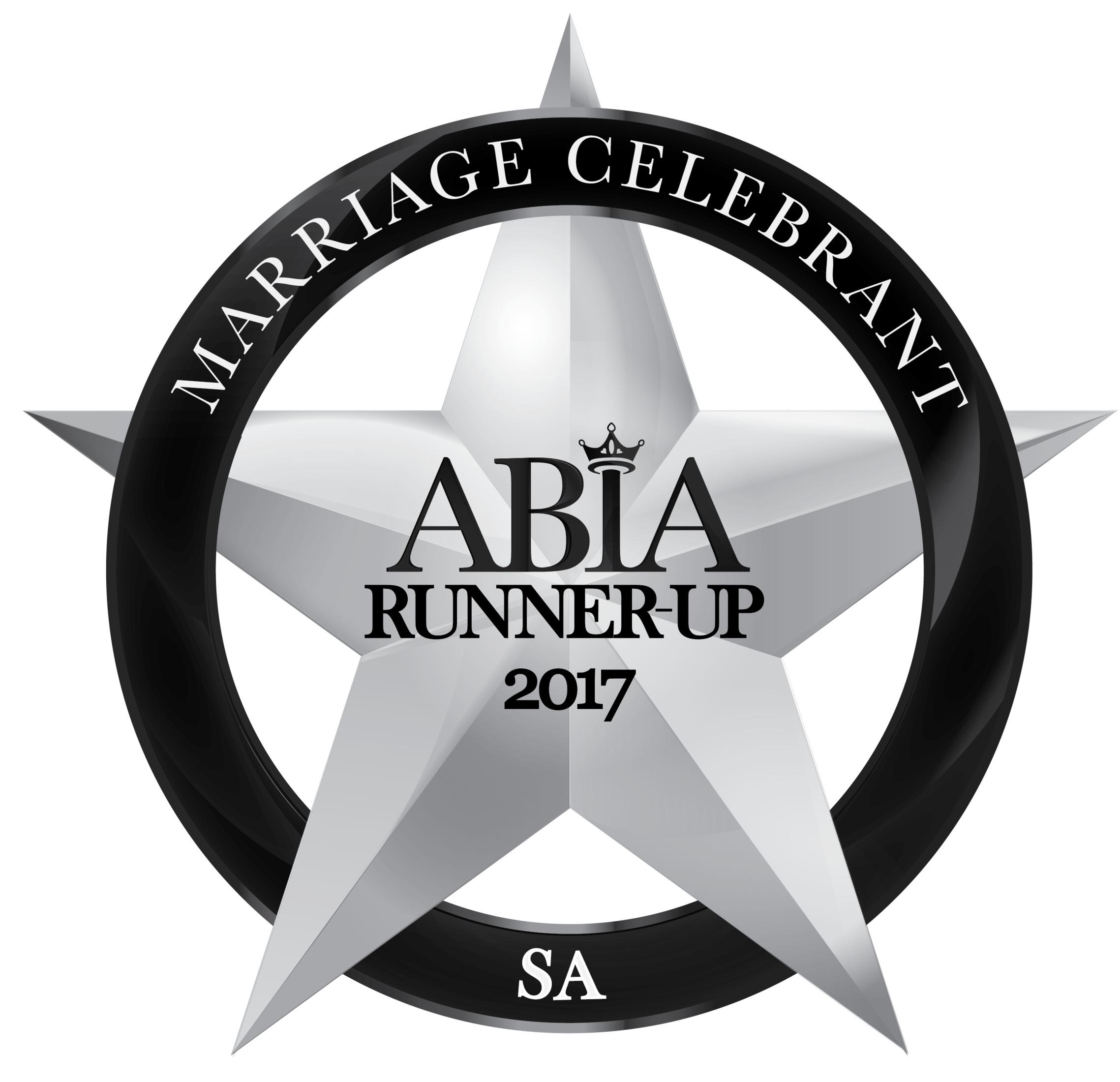 Camille Abbott Marriage Celebrant 2017 Runner up ABIA Awards