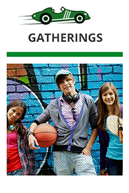 Come with your friends to a gathering with us, race, mingle and talk