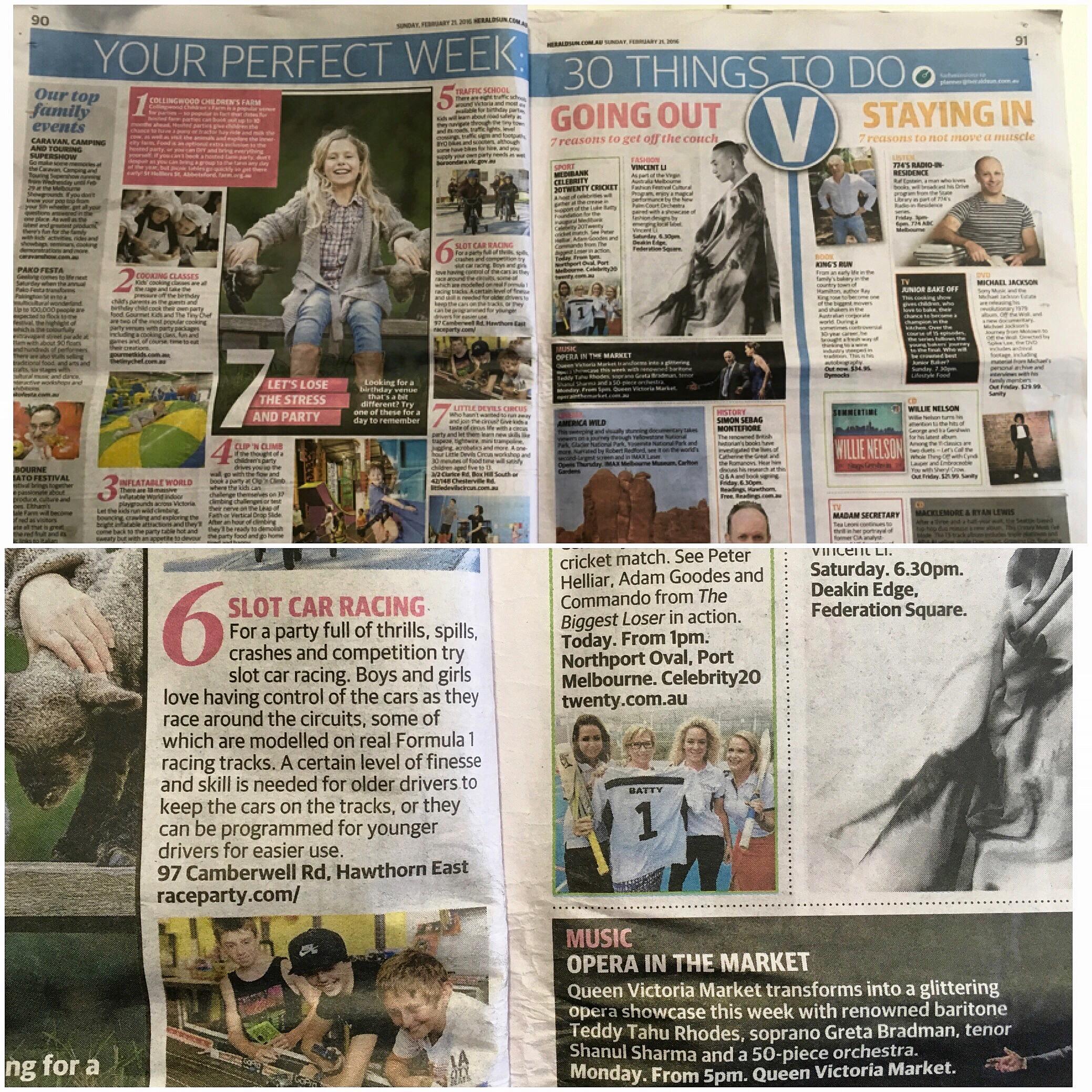 Herald Sun recommends Raceparty