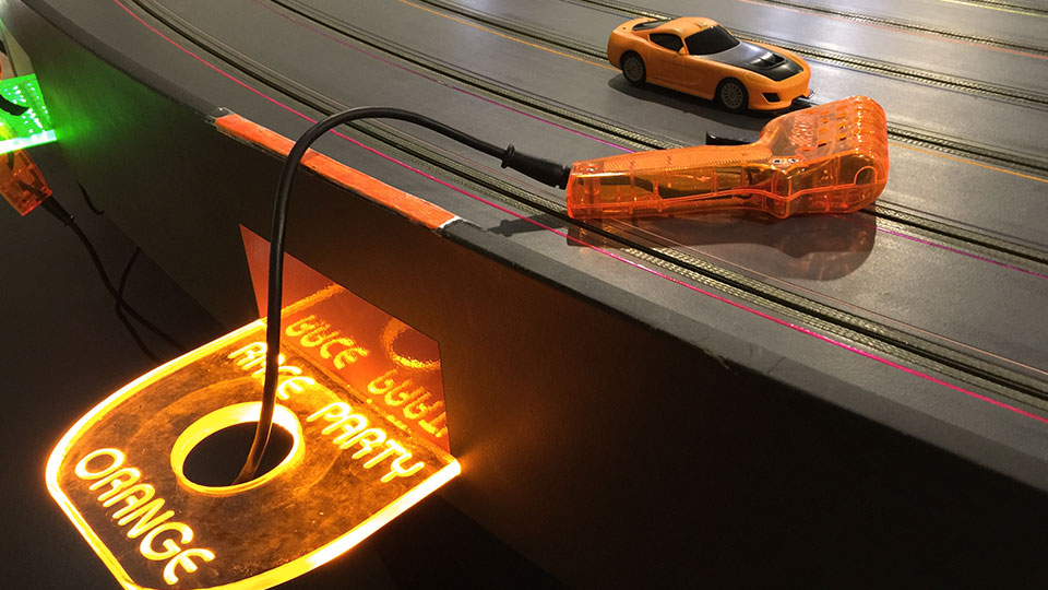Slot car and controller