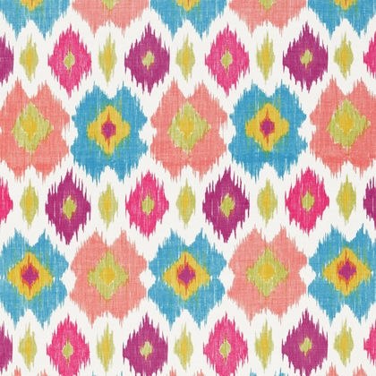 Biscayne Bimini Ikat F95730 Pink_Turquoise