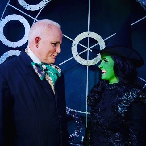 Happy 50th birthday to my favourite, glitter-obsessed, most wonderful wizard... 💚 Spending time with you on our carpools to rehearsals all the way through Wicked (and some of Heathers) were some of my absolute favourite memories of that time.  Thank you for ALWAYS making me laugh till I cry (and sometimes nearly vomit)... and for nearly breaking me (into laughter) on stage in BOTH of those shows. 😂😂 Seeing you always lights up my heart!! You're absolutely one of a kind. ✨