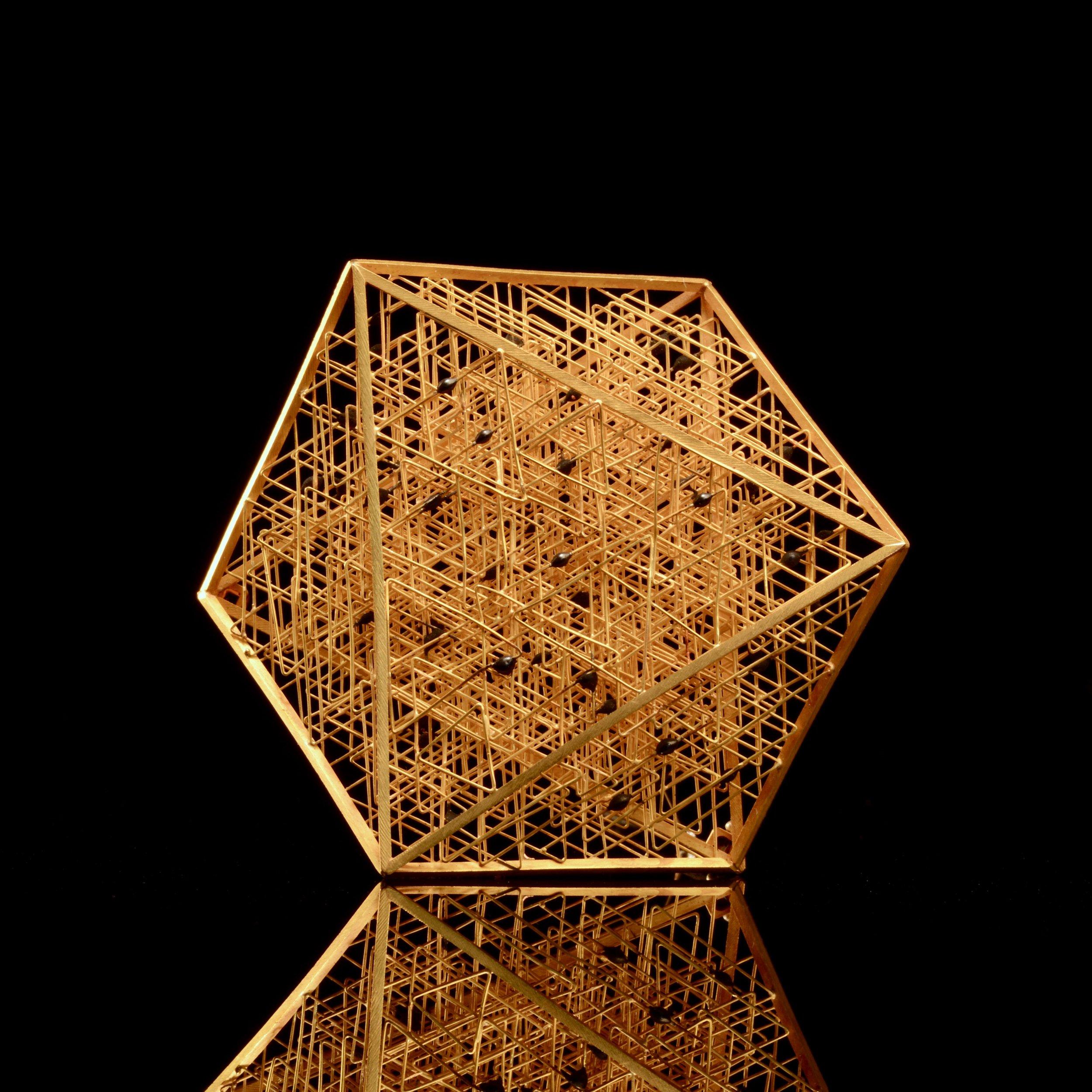 hexagonal brooch
