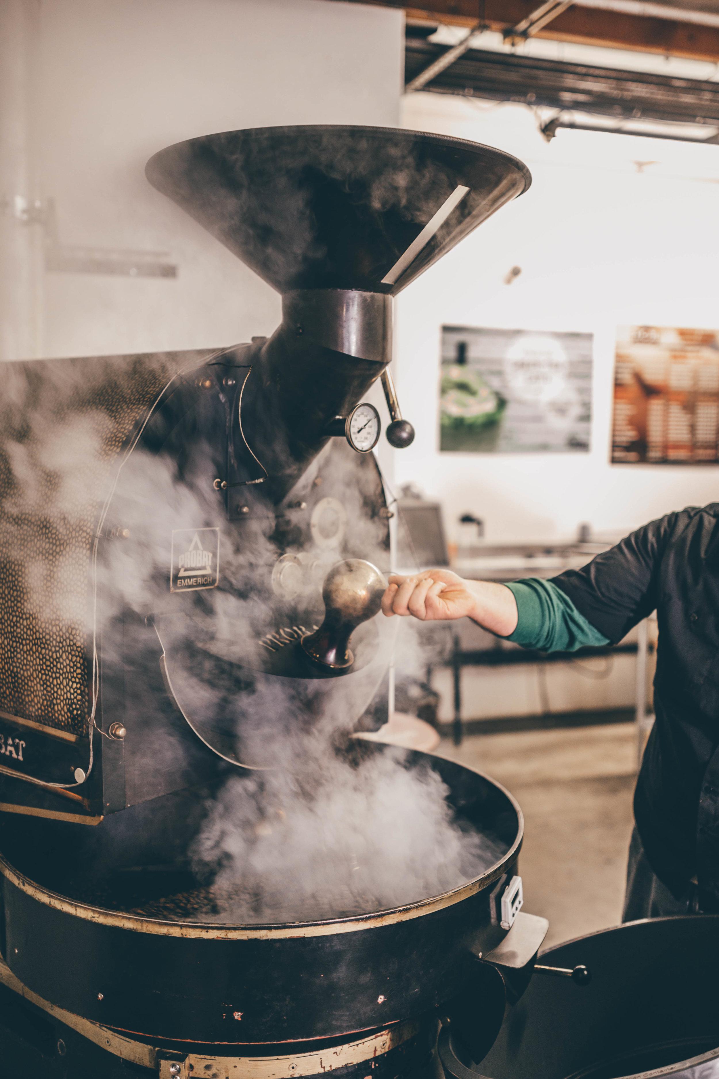 Coffee Roasting using Probat Emmerich