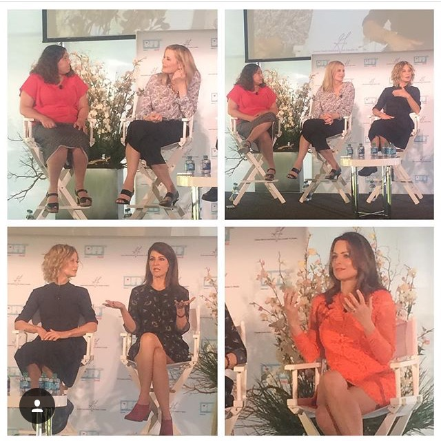 The best panel of the week for us was listening to Geena Davis (still our BFF), Meg Ryan, Nia Vardalos, and Kimberly Williams Paisley.