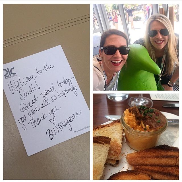 And to cap it off for us, while grabbing a drink and appetizer at The Hive, our other new BFFs Meg Ryan and Kathy Najimy walked in to dine. So what did we do?! We sent them the Pimento Cheese app with a note that said, Welcome to the South! #givers