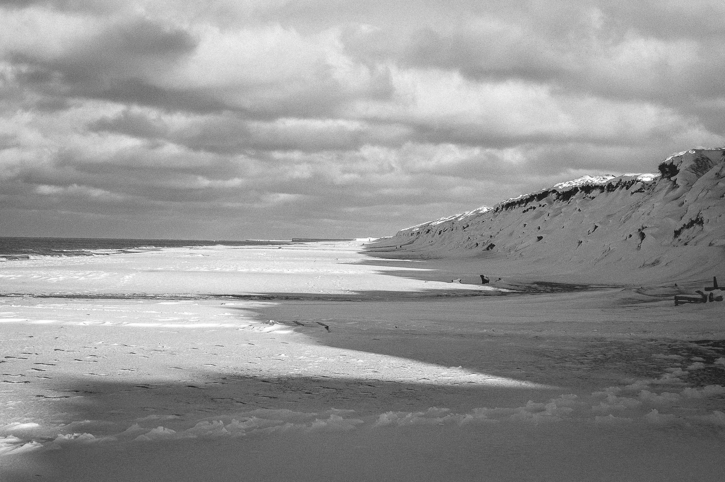 Seascape and Snow, Thy, Denmark
