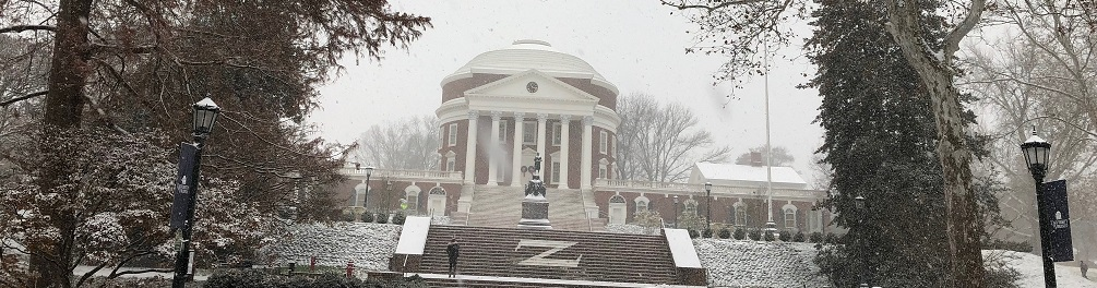 It's a snow day at UVa! We've got lots more on the ground now!