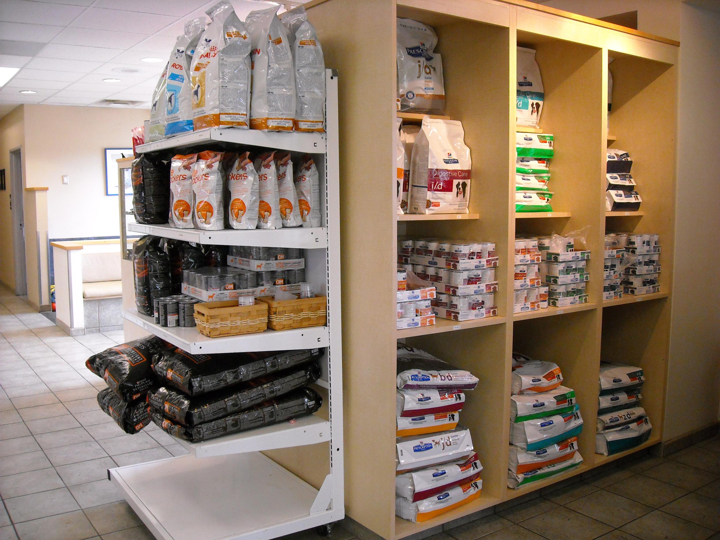 Dog food shelf #1!