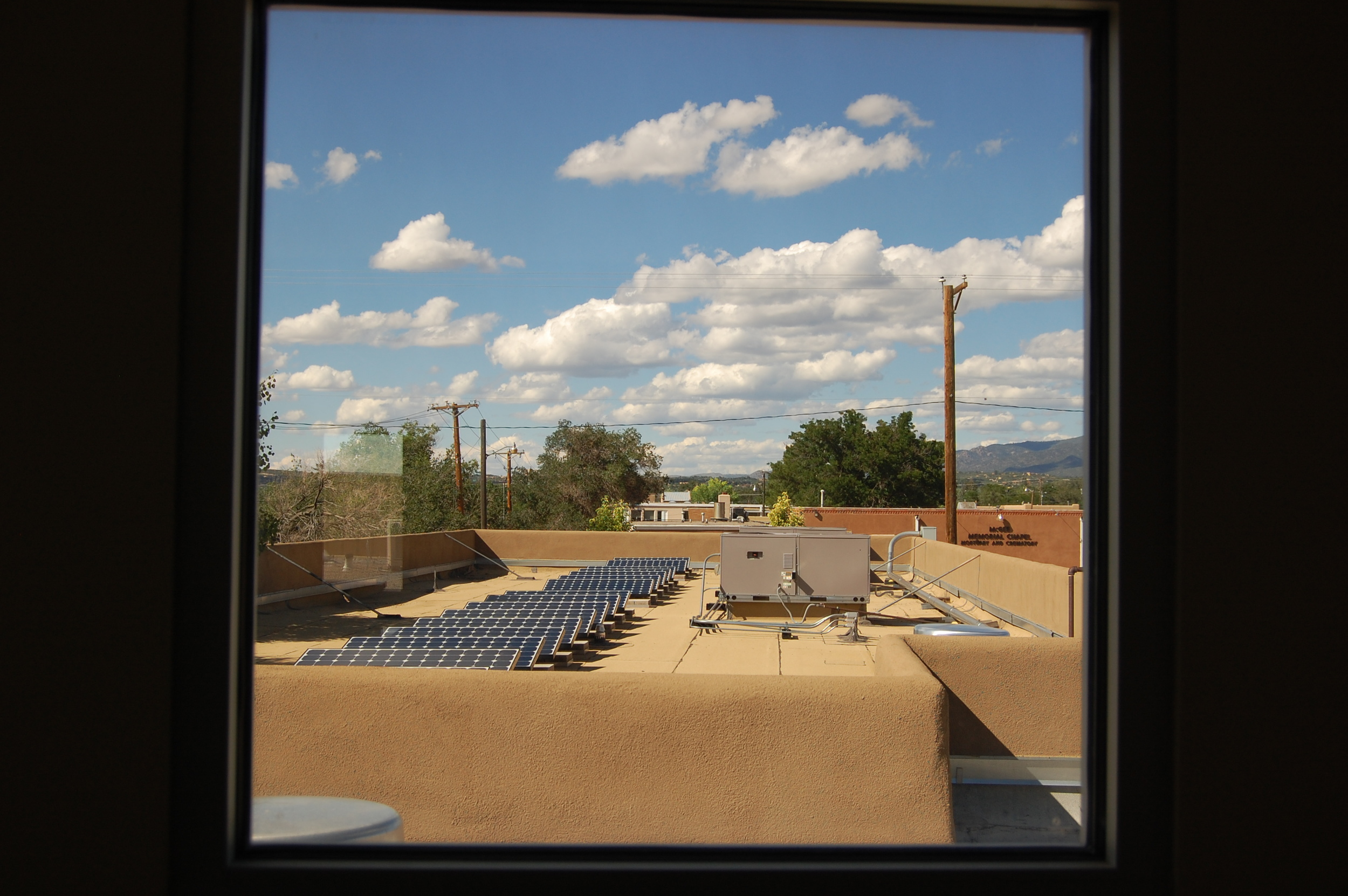 Solar panels on the canine hospital roof