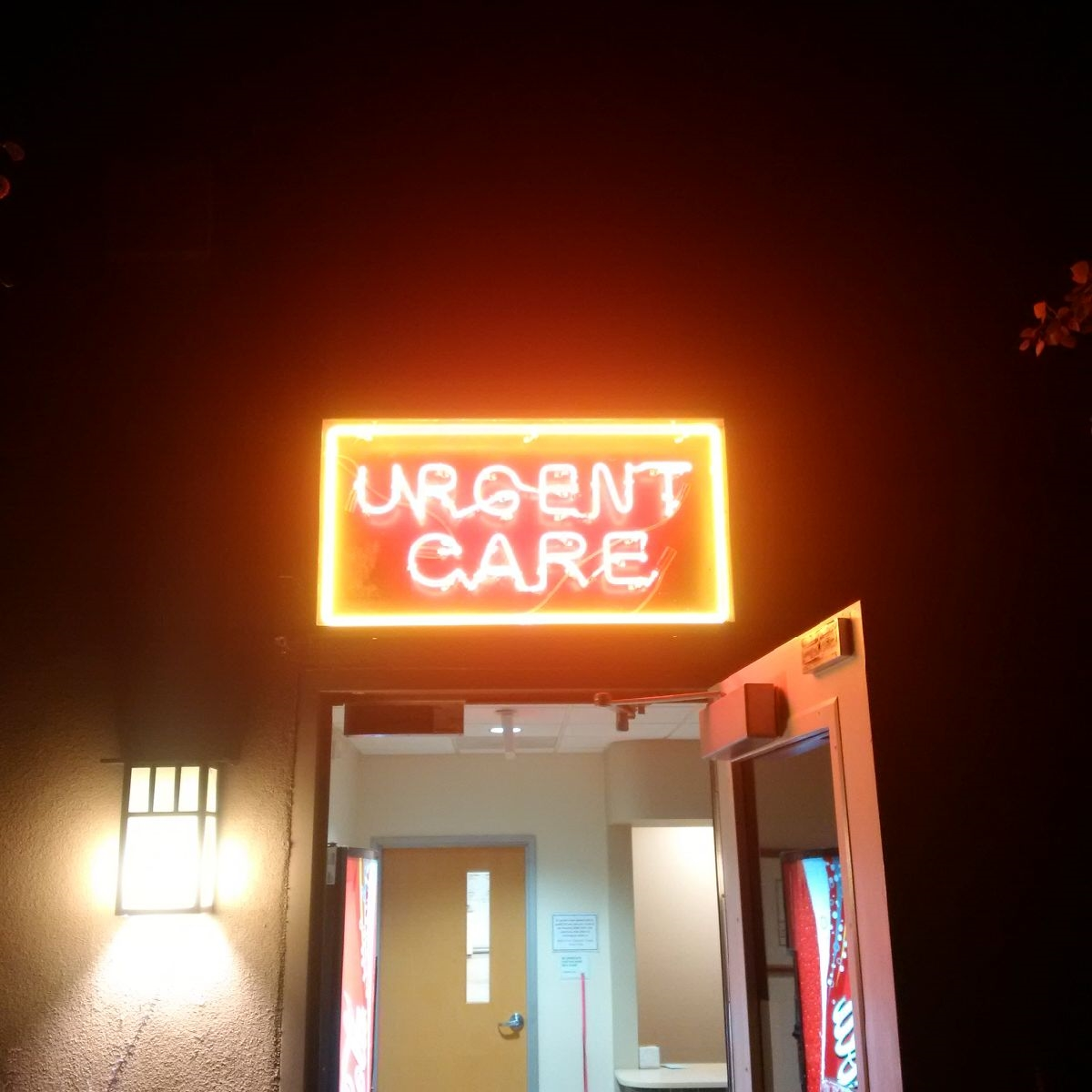 Urgent Care entrance and sign