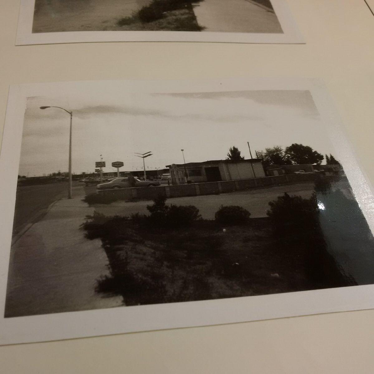 Smith Vet Hospital parking lot, 1978