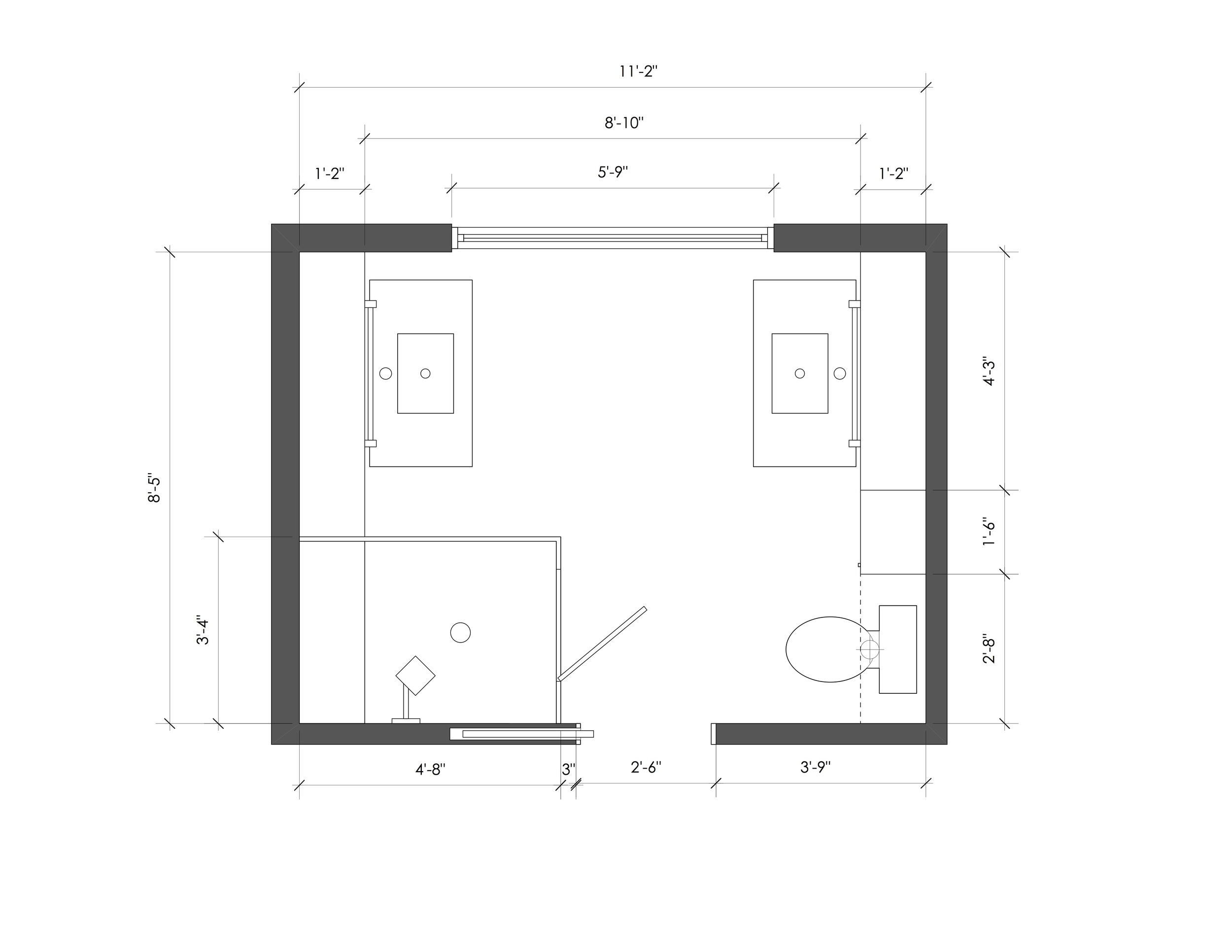 Top/Plan View Bathroom Renovation