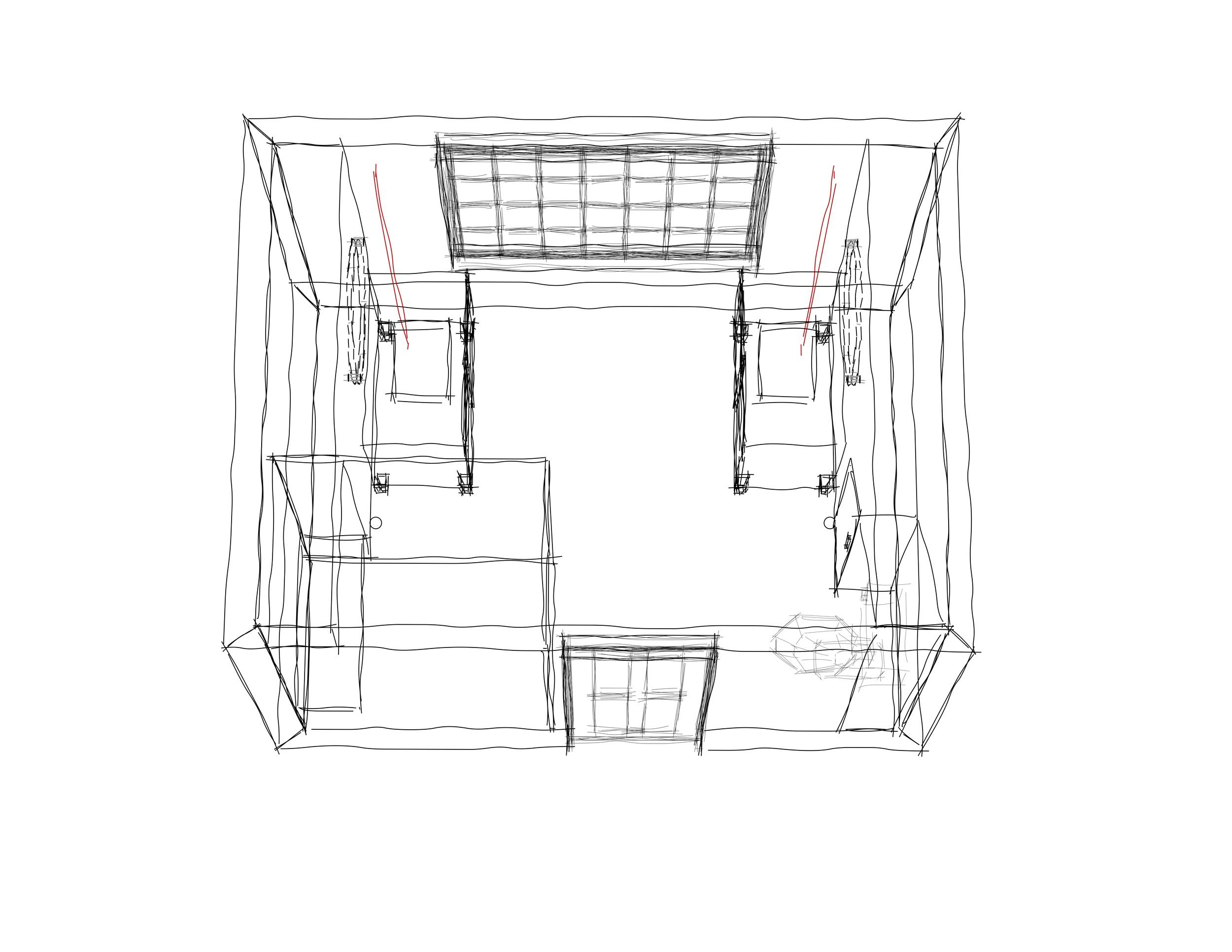 Top/Plan 3D View Bathroom Renovation