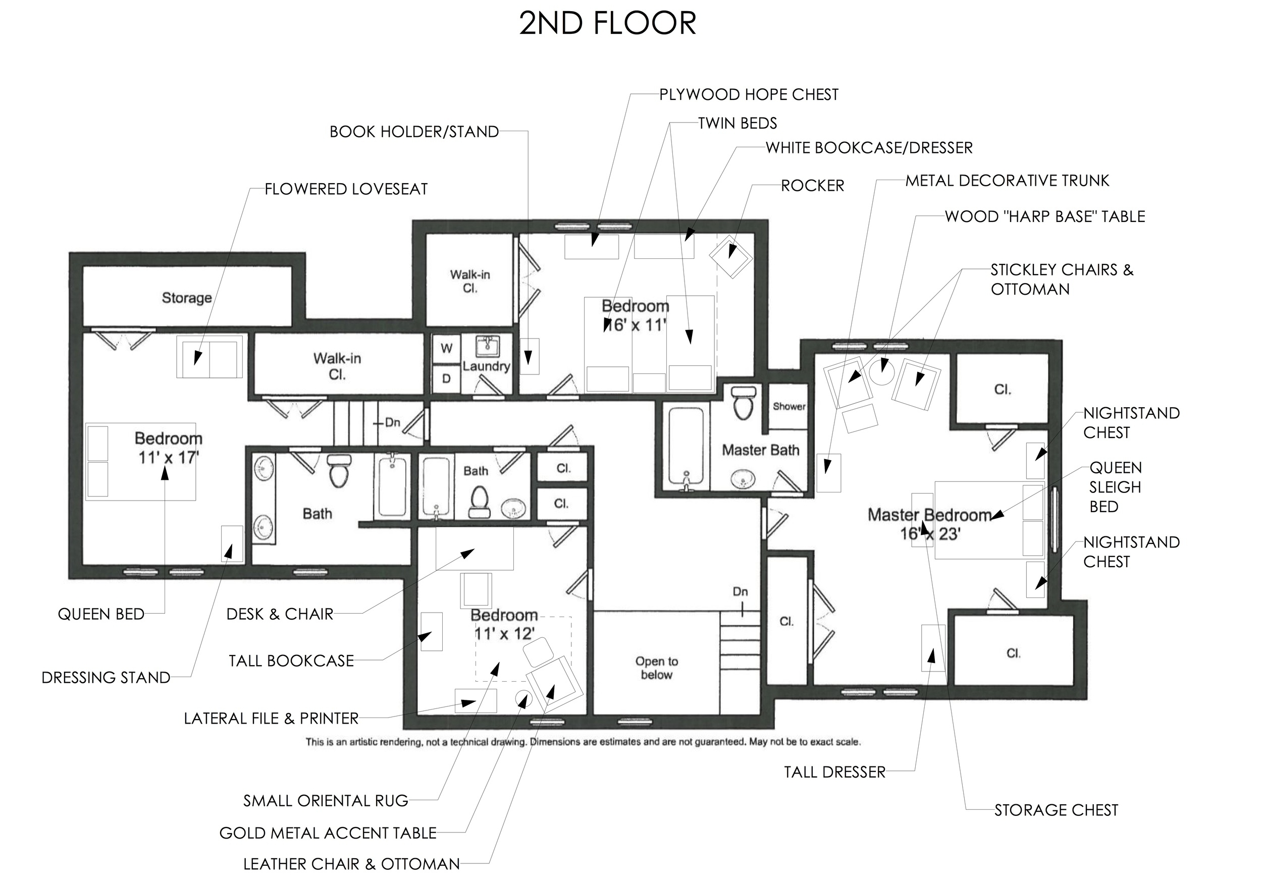 2nd Floor Moving Plan