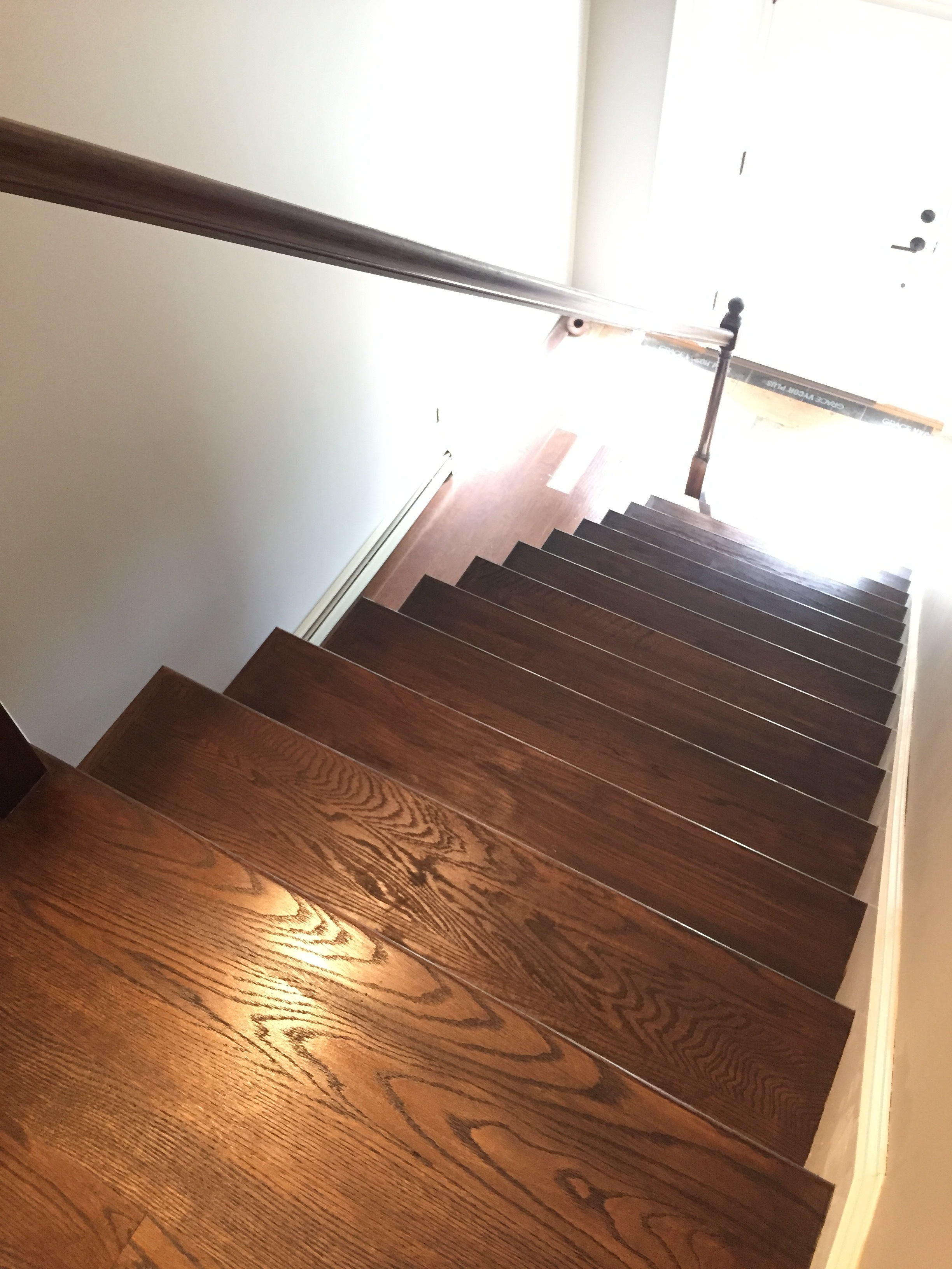 FINISHED - Red Oak - 3 coats of Minwax Jacobean 2750 - No Poly