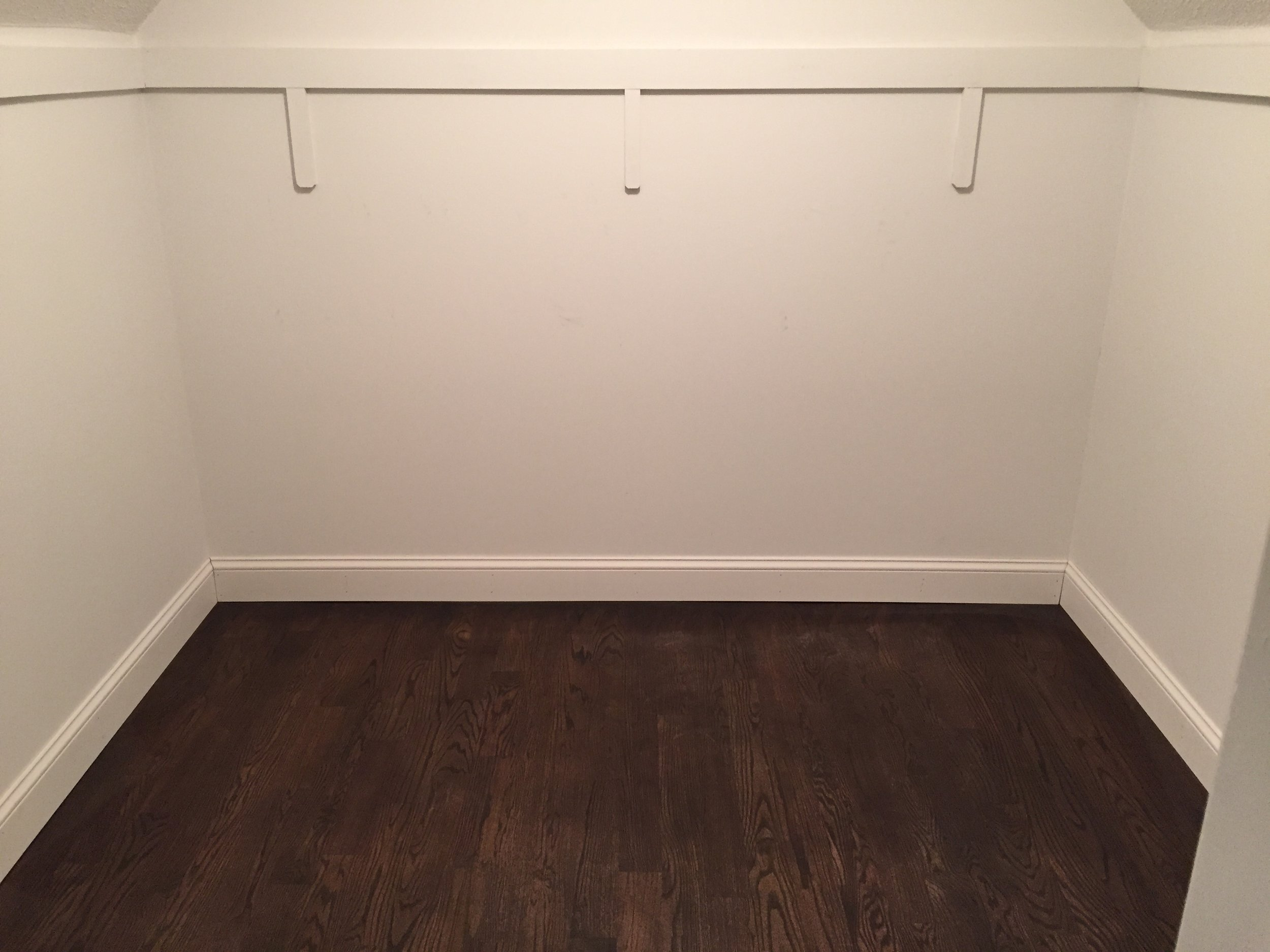 FINISHED - Red Oak - 3 coats of Minwax Jacobean 2750 with Satin Poly & New Baseboard