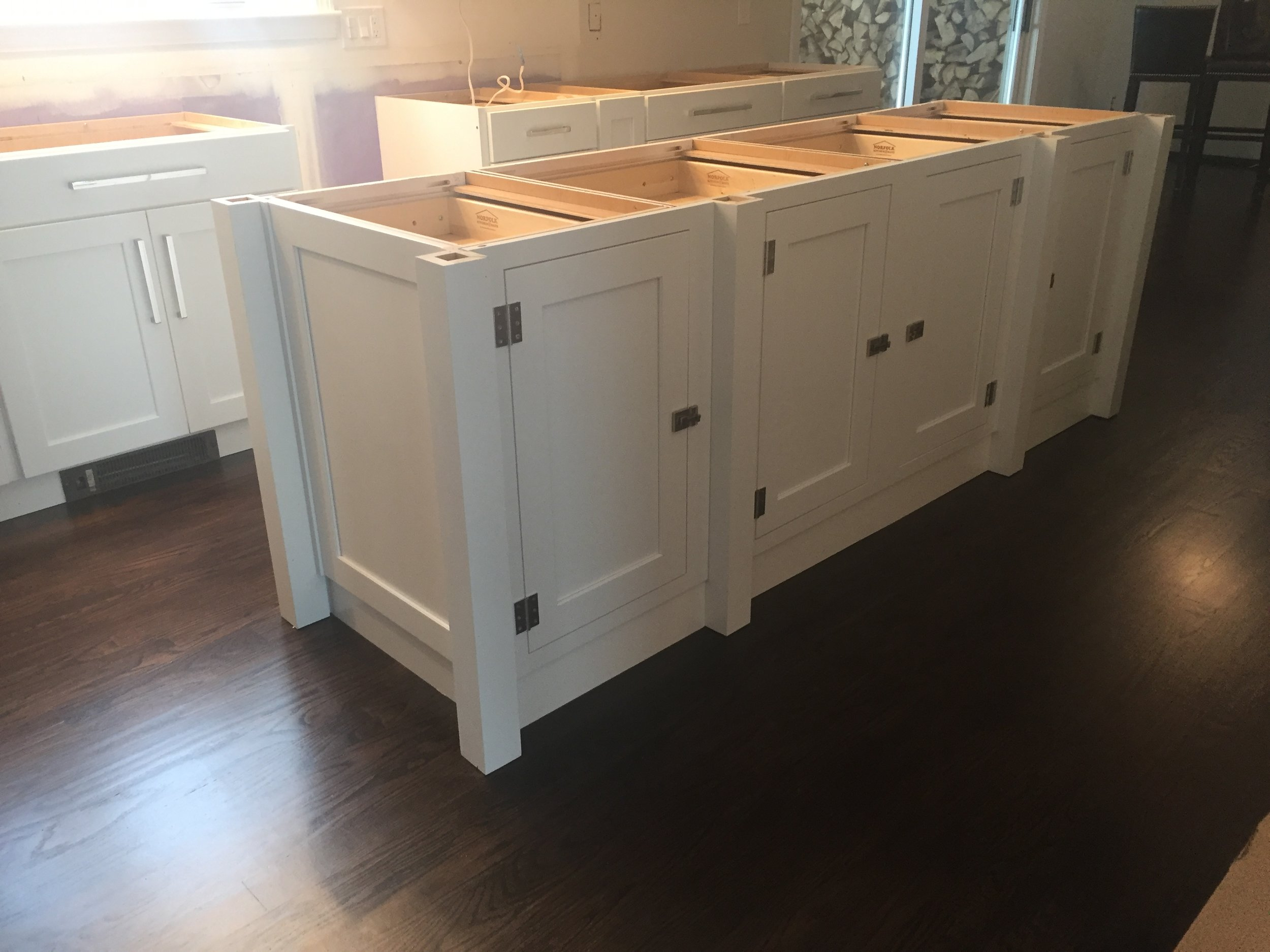 "8' x 30"" Kitchen Island - Custom Designed to look like a piece of furniture"