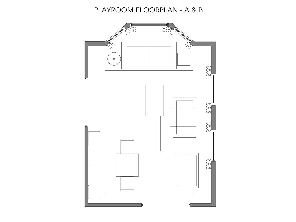 Playroom Floorplan for Option A & B