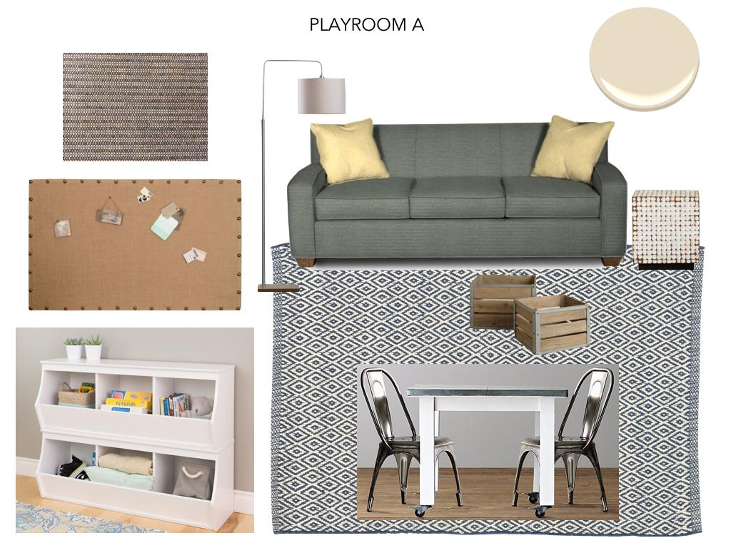 Playroom Option A - neutral scheme