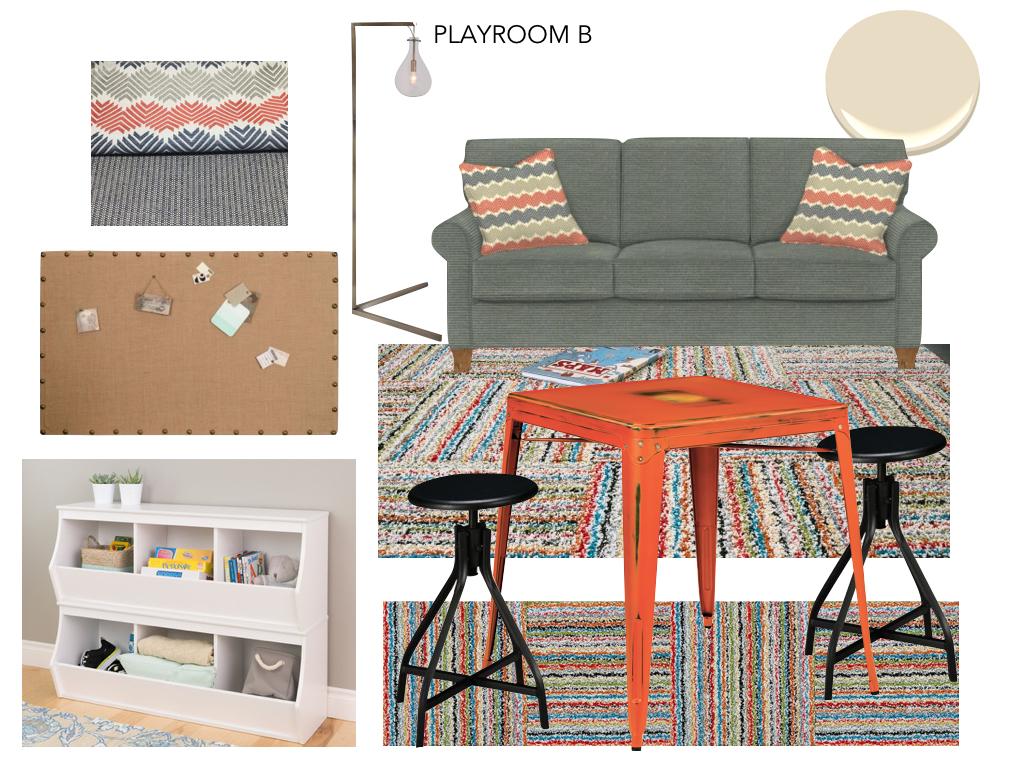 Playroom Option B - colorful scheme