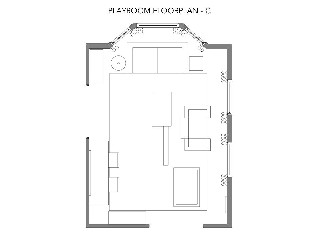 Playroom Floorplan for Option C
