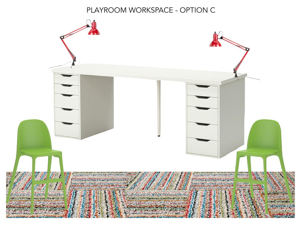 Playroom Option C - Double Desk