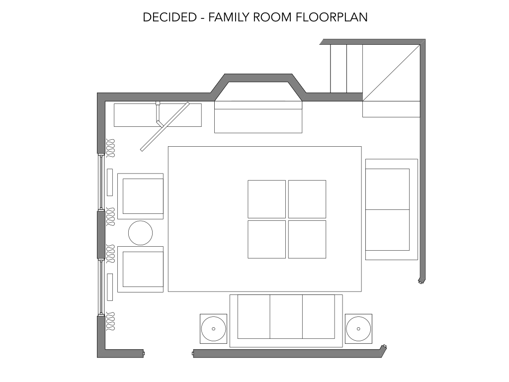 Decided floorplan: all but end tables next to sofa and area rug size have changed