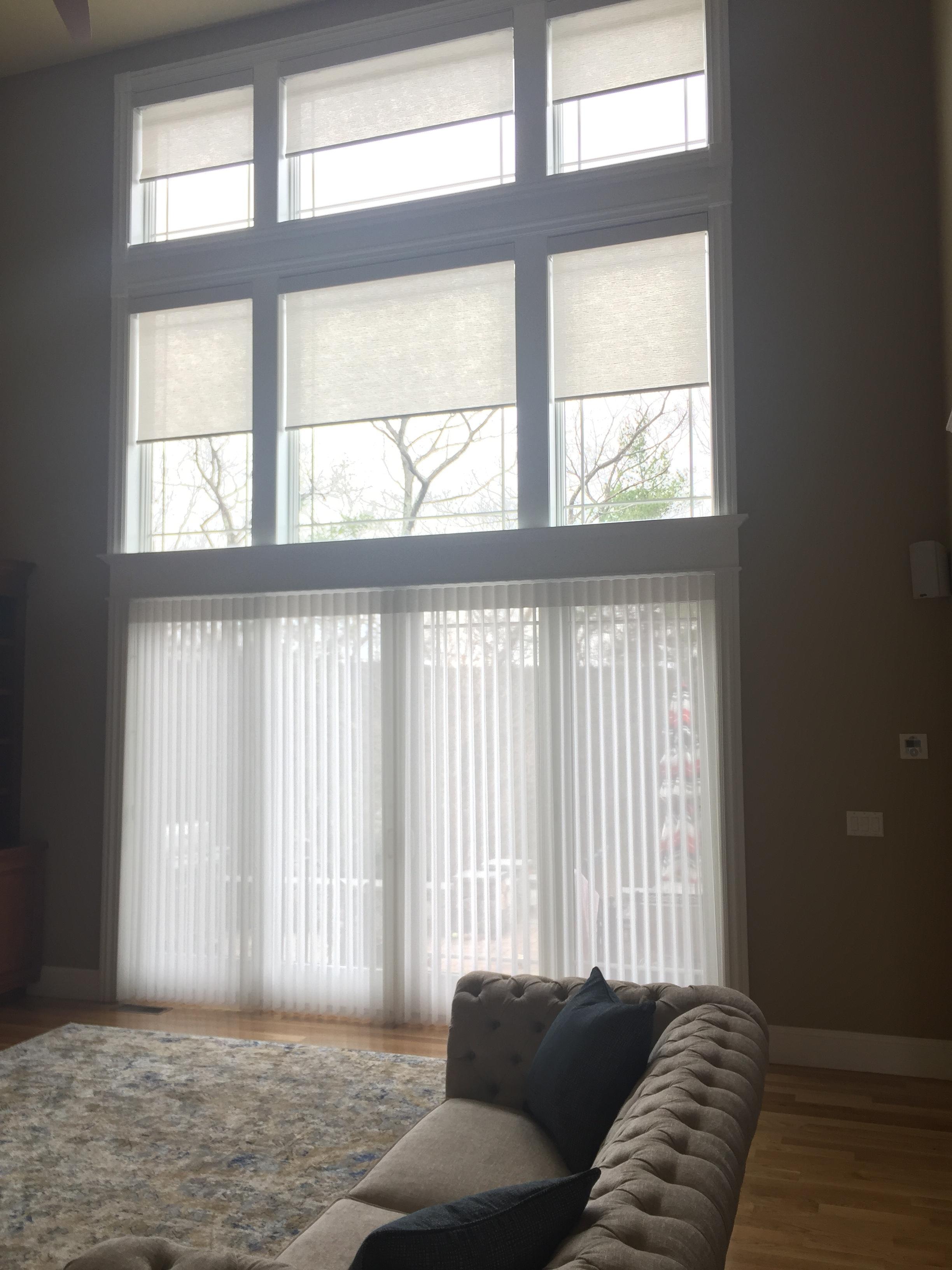 Custom Window Treatments - Family Room Design - Bolton, MA