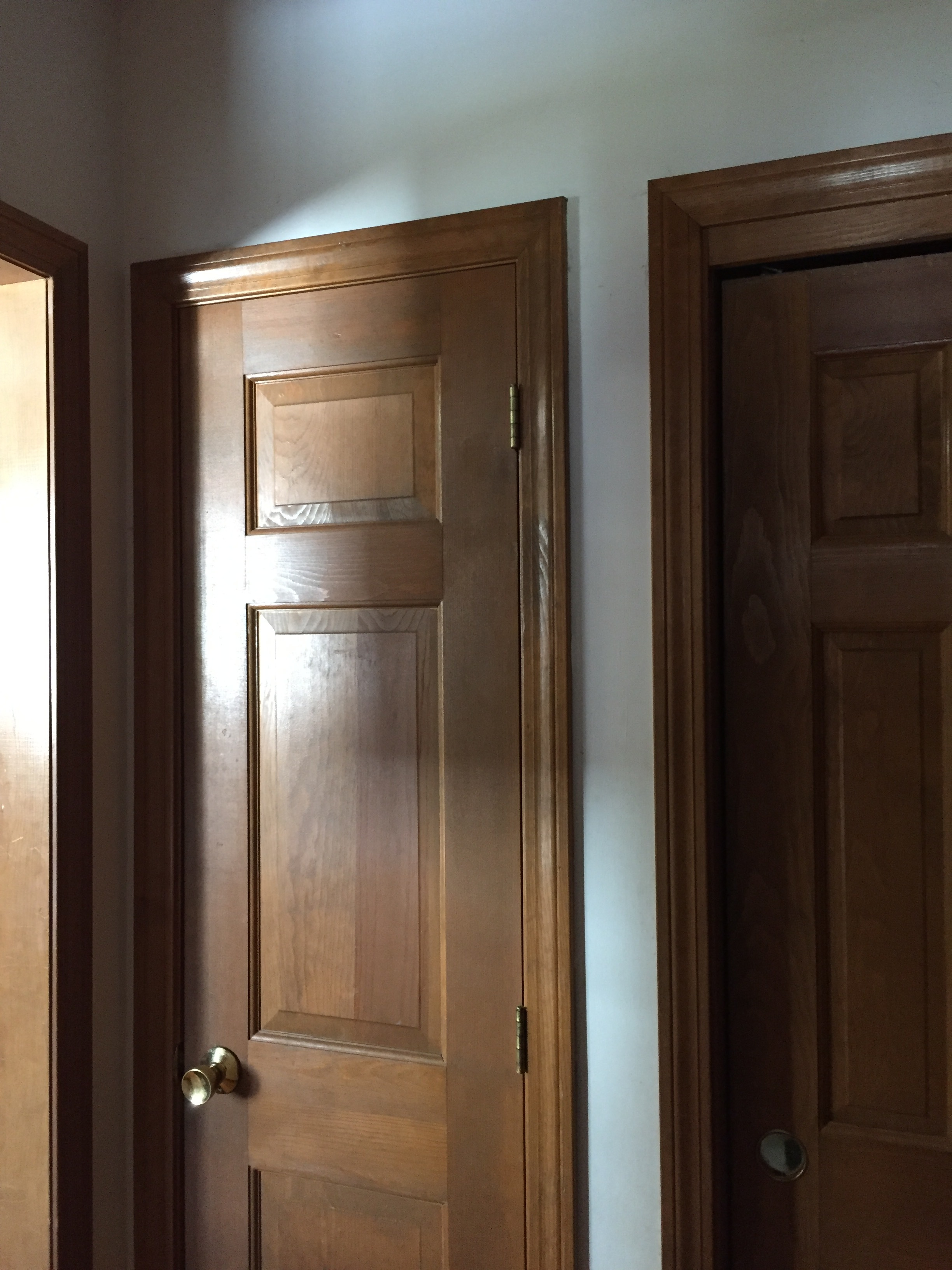 Before - Pantry Closet and Coat Closet
