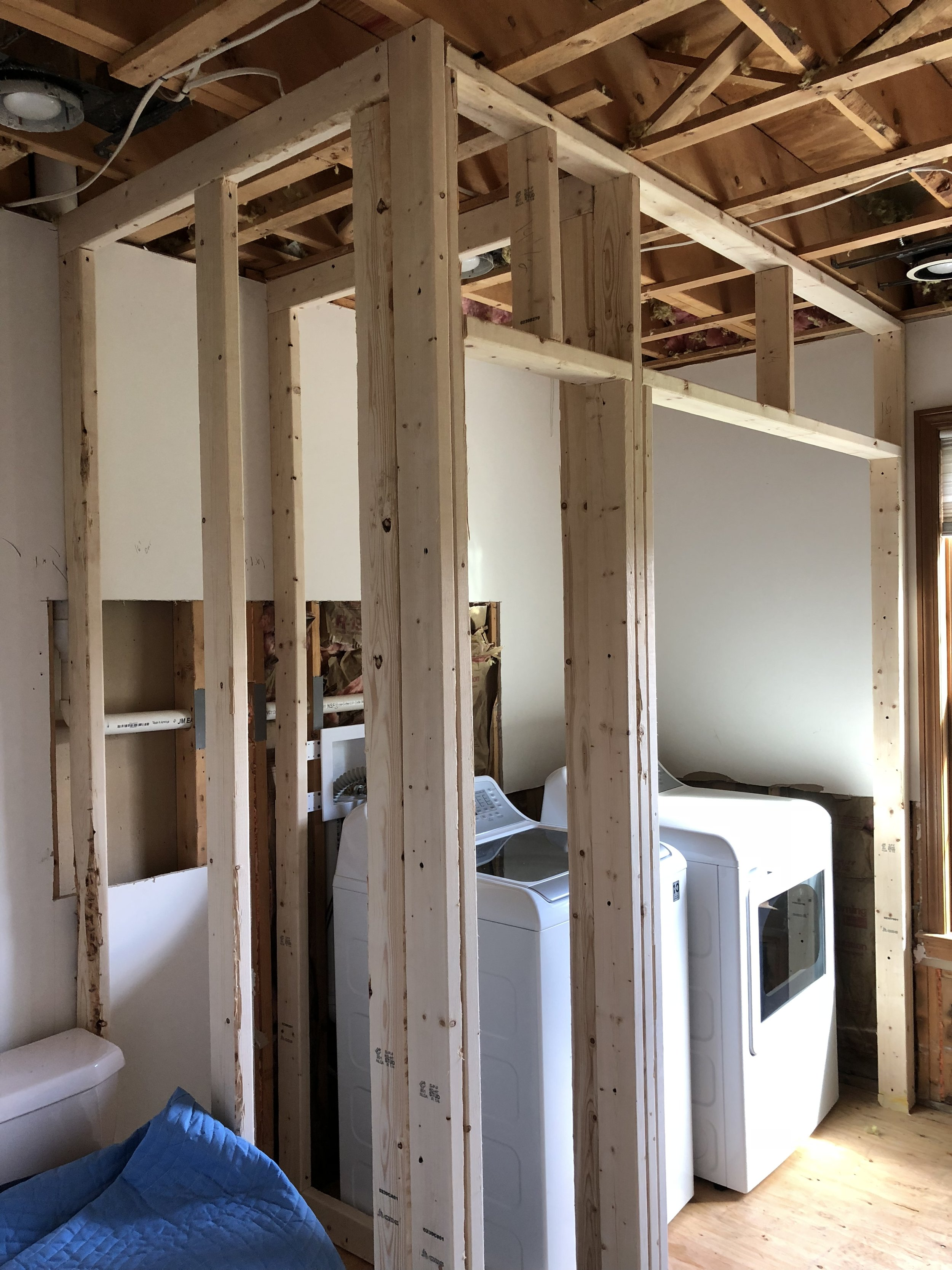 New Framing for Washer/Dryer closet