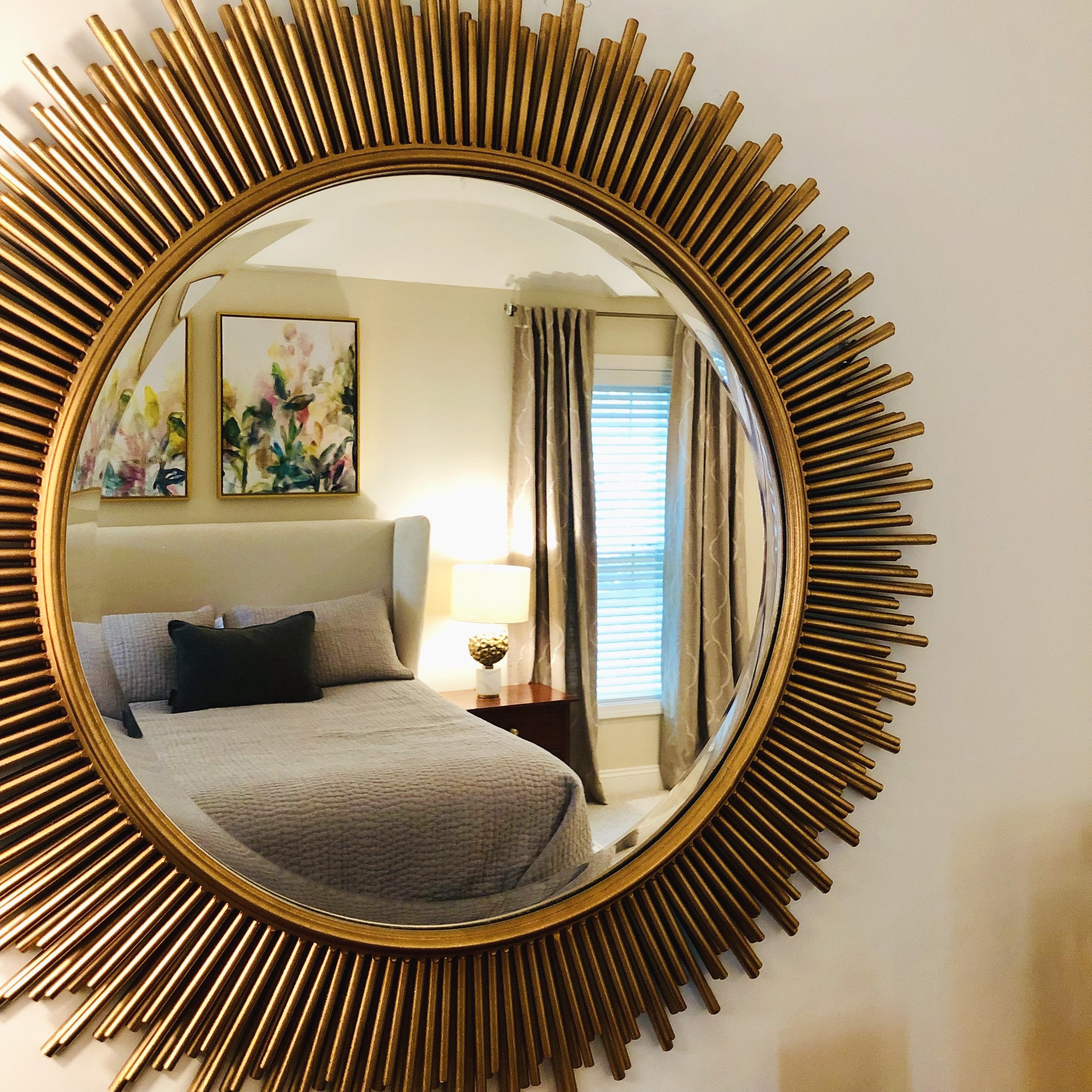 Gold Glam Mirror Over the Dresser