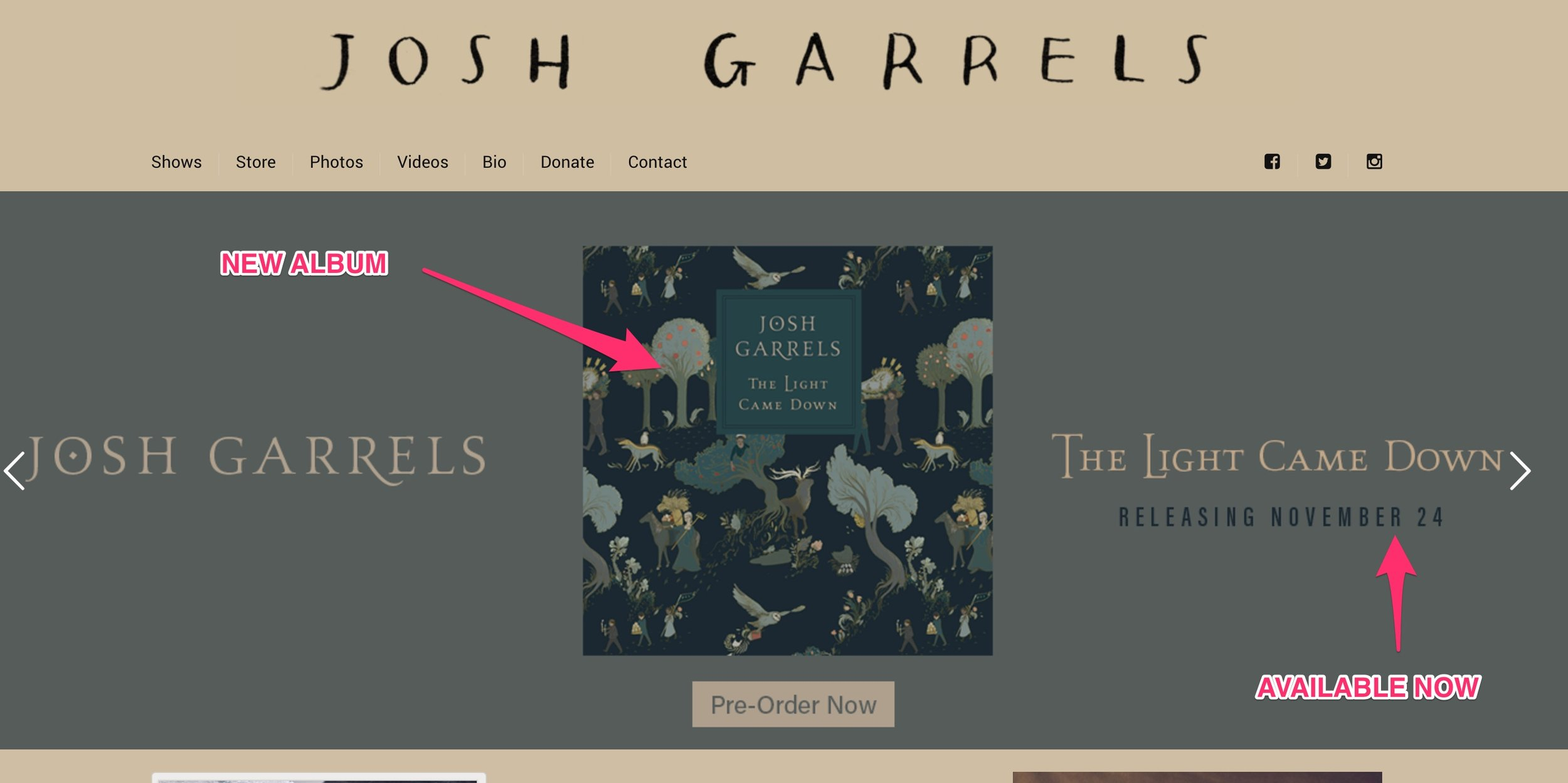 Josh Garrels New Album