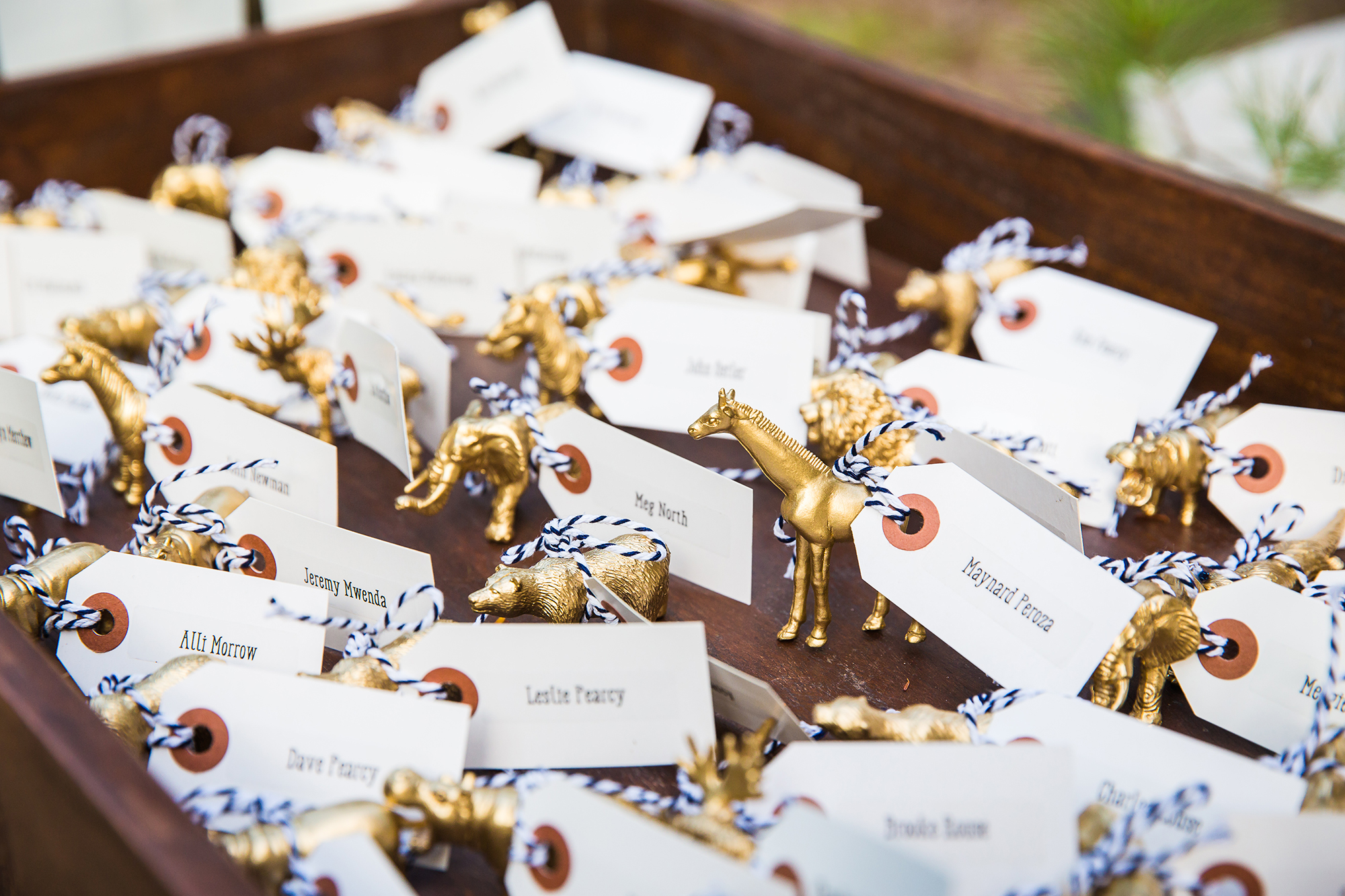 gold_animal_figurines_name_cards_for_seating