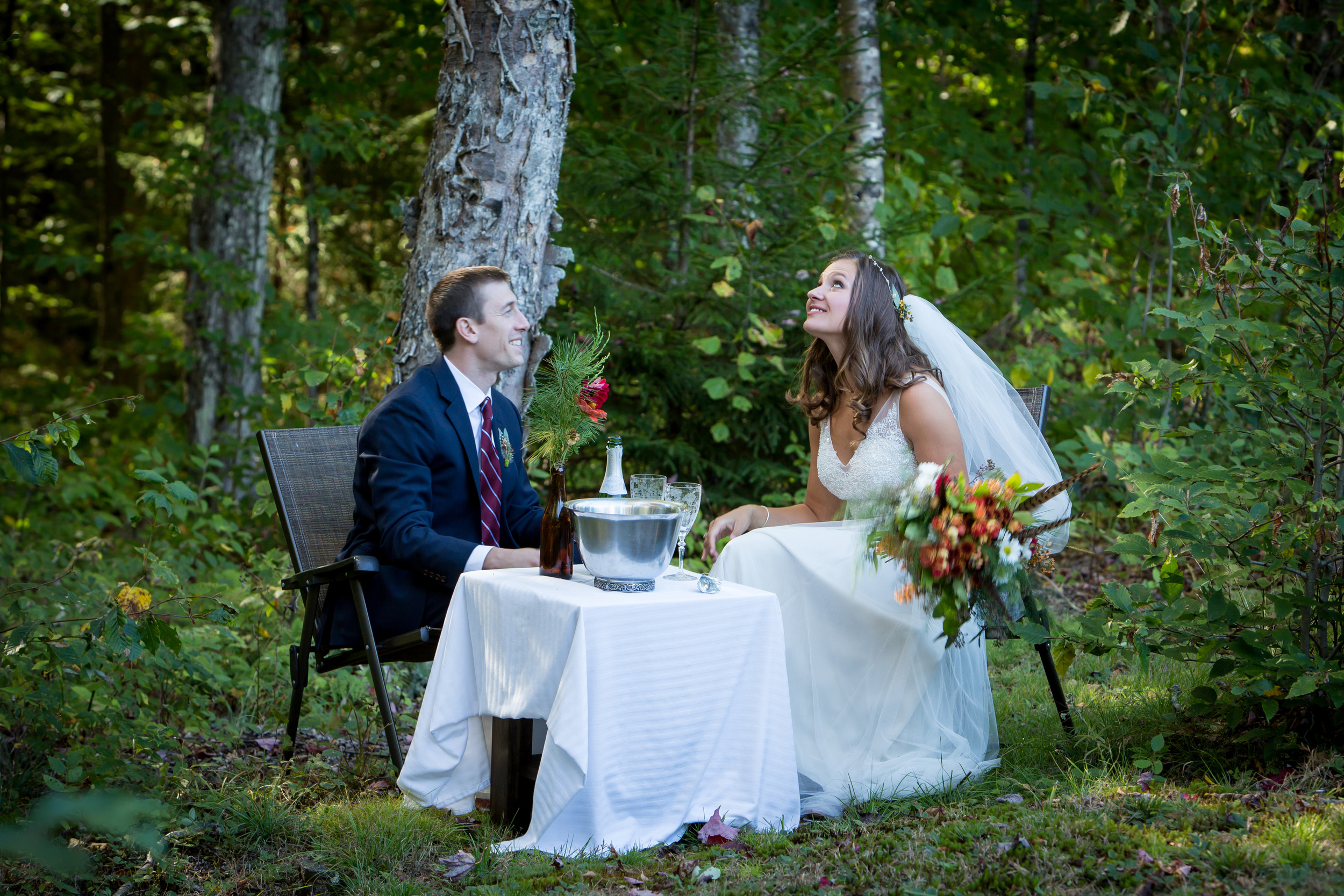 woodland_wedding_champagne_table_in_trees
