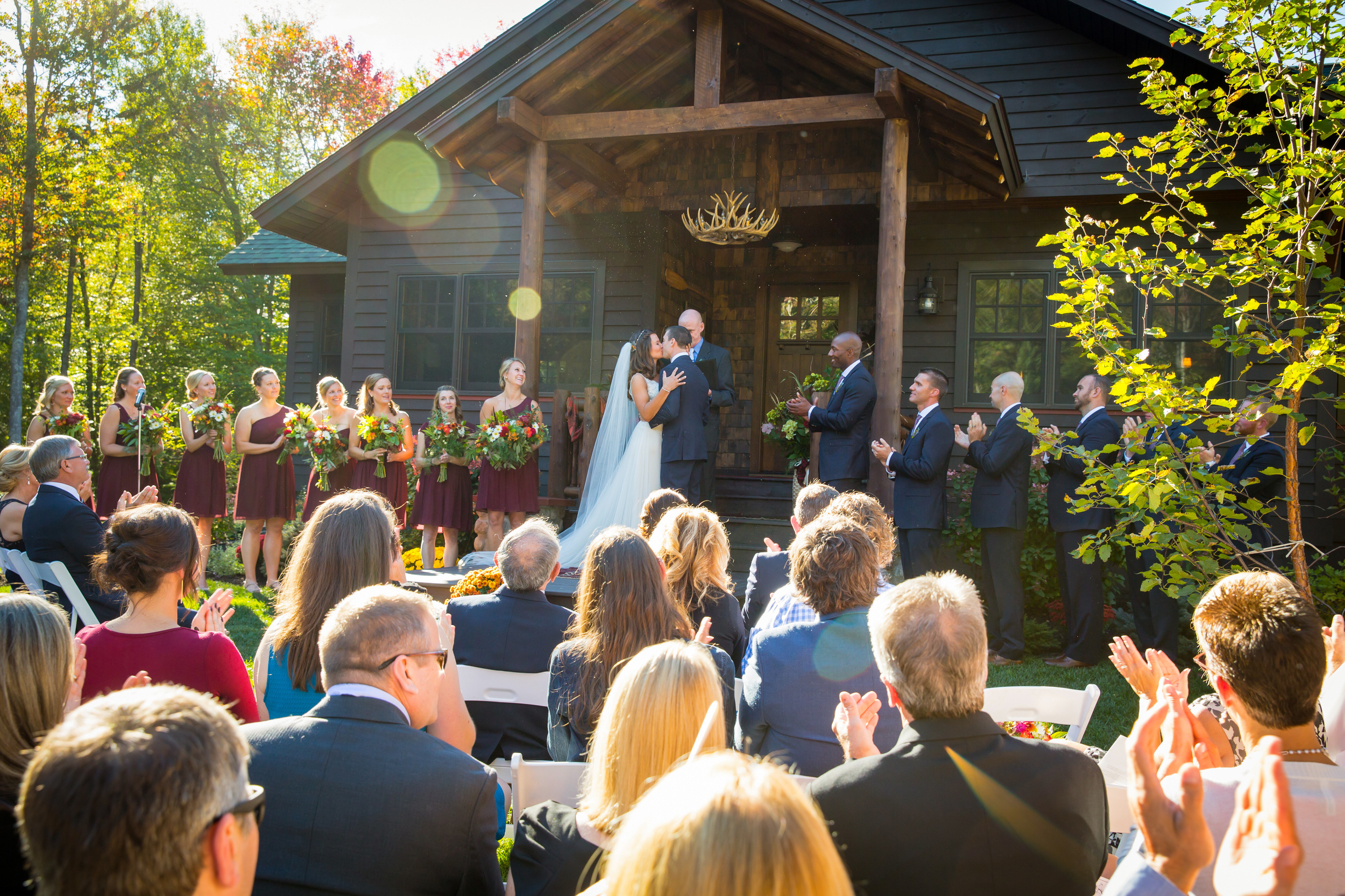 fall_adirondack_lodge_wedding_ceremony