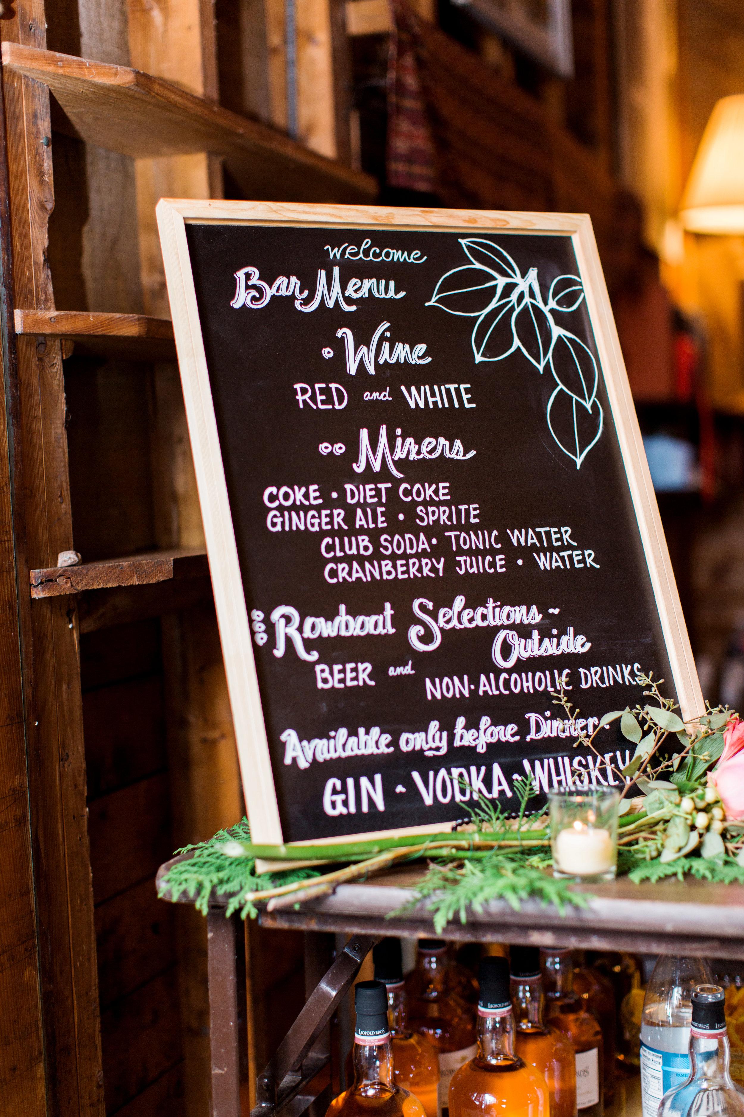 hand_painted_chalkboard_wedding_drink_menu