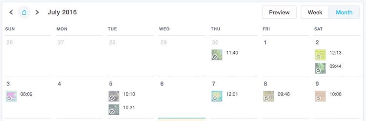 Later.com's month calendar shows thumbnails. (This is a cropped view)