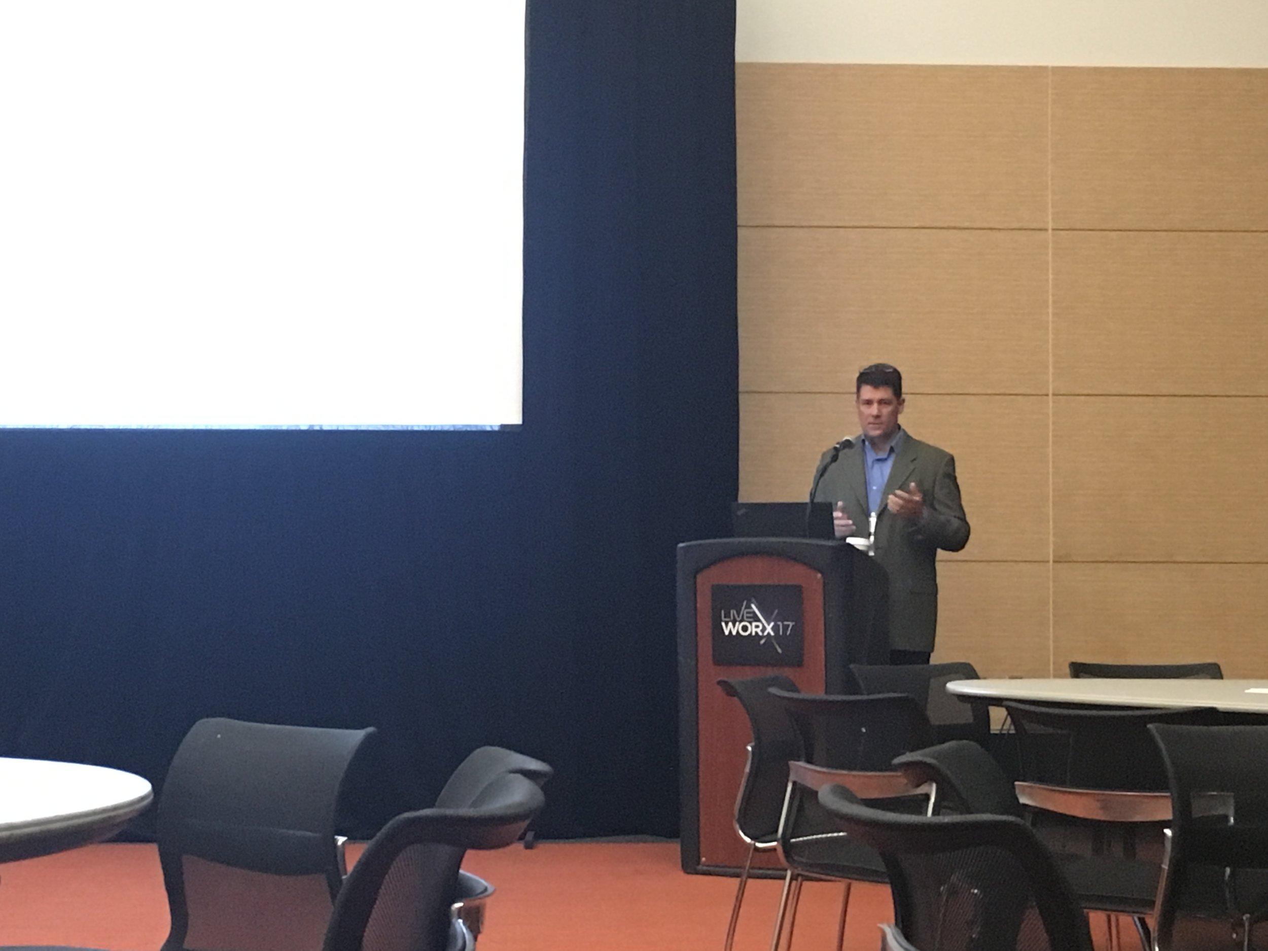 David Kellner presents at LiveWorx
