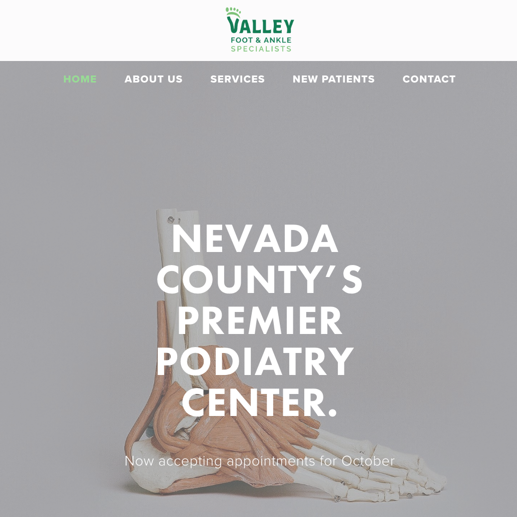 Home Page for Valley Foot & Ankle