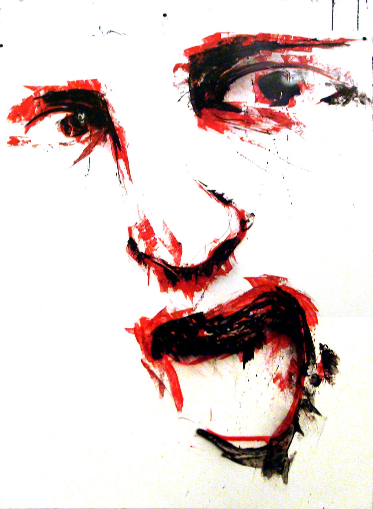 Décembre 2011 - Aérosol sur affiche - 70 x 100 -Affiche Le Kyma