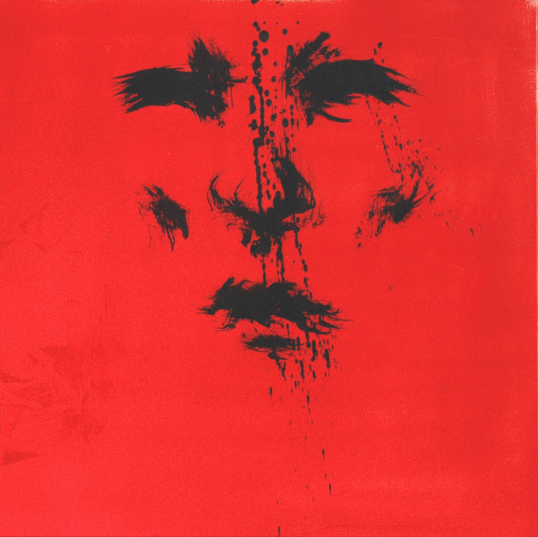 Octobre 2011 - Technique mixte sur toile - Galerie 213 Homme rouge original