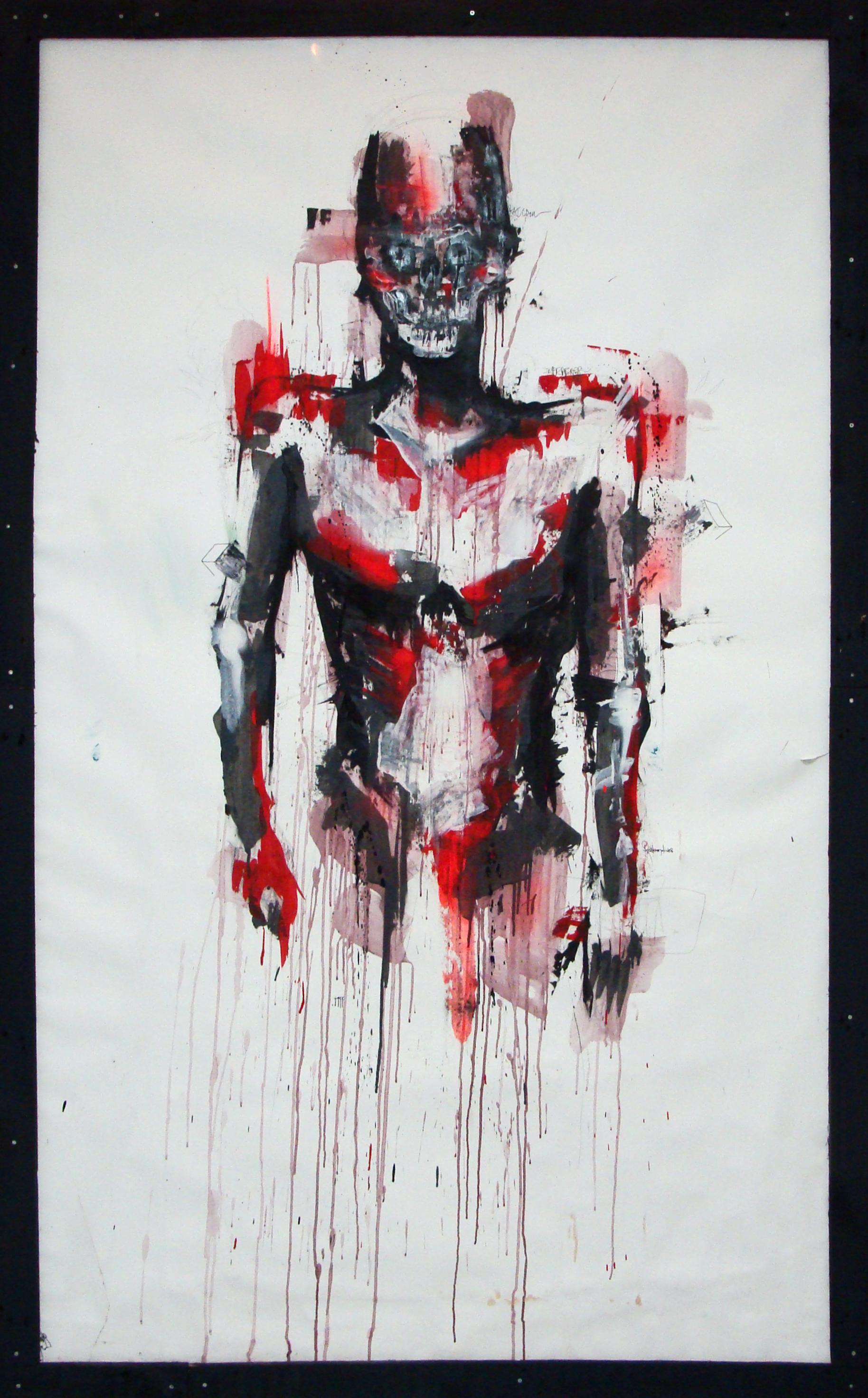 2013 -  Technique mixte sur affiche - Naked White Collar