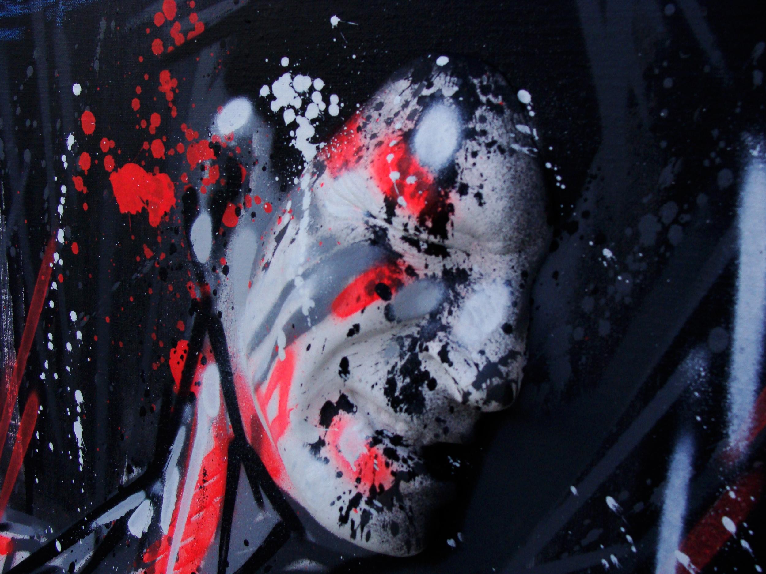 Octobre 2013 - Aérosol sur toile et moulage -Stressed w/Gregos 2