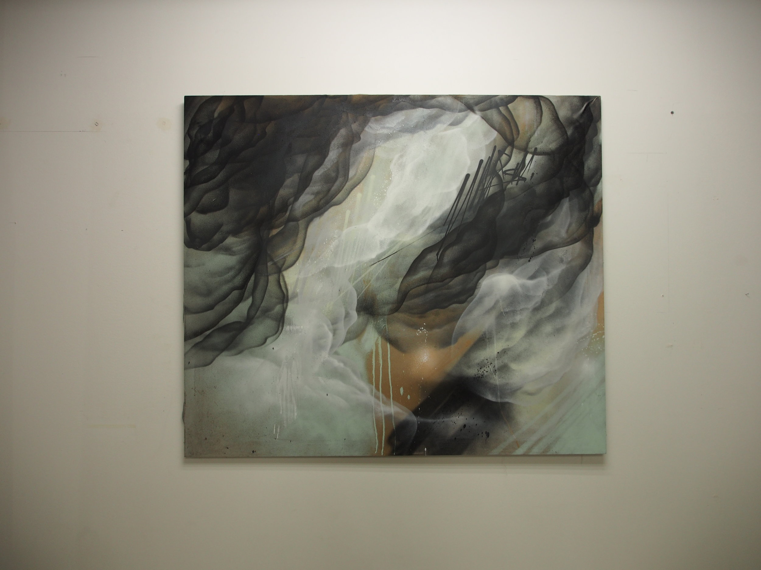 I - 150x170cm - Spray on canvas
