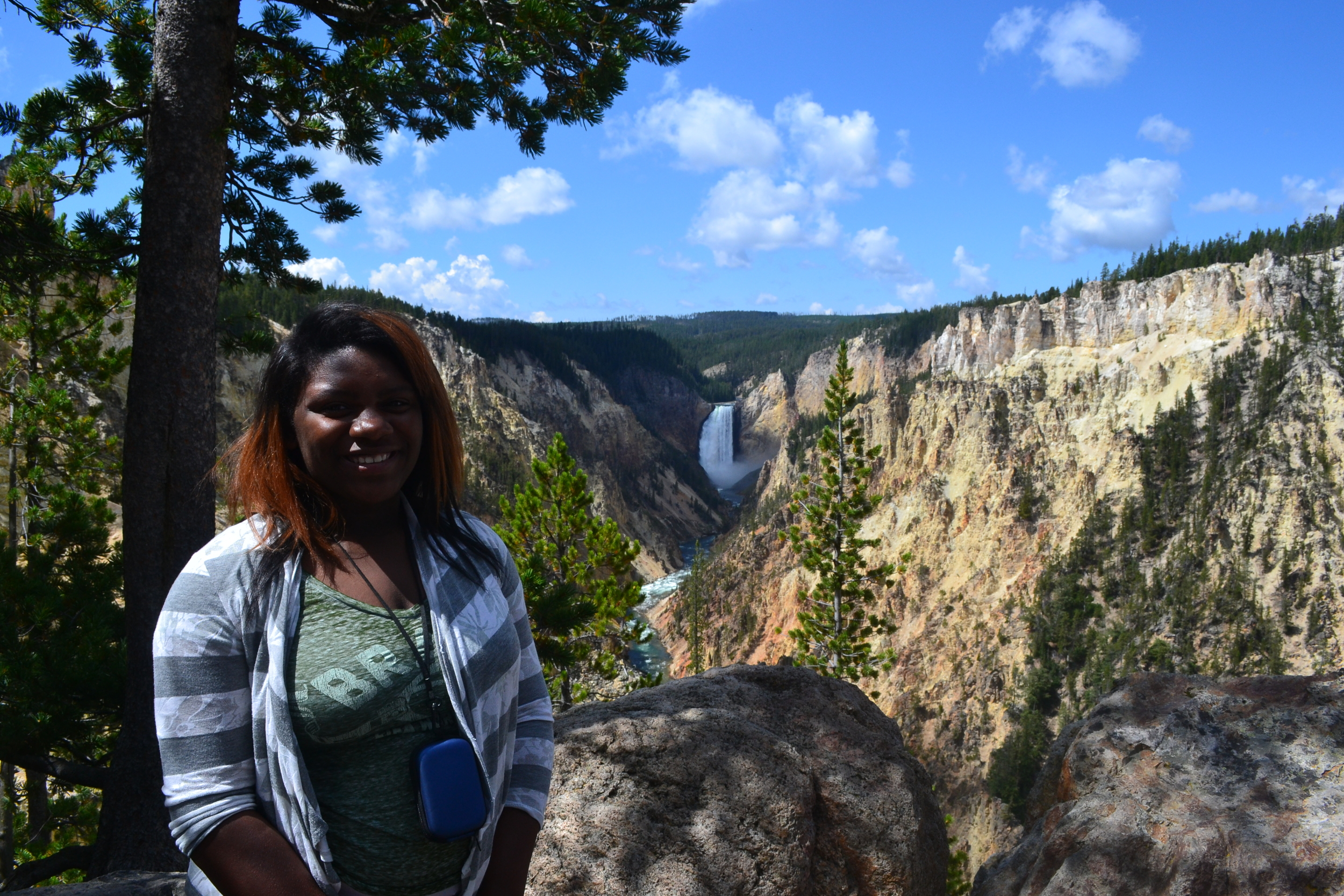 Jayla was selected to attend Groundwork USA's Youth Corps Experience in Yellowstone National Park.